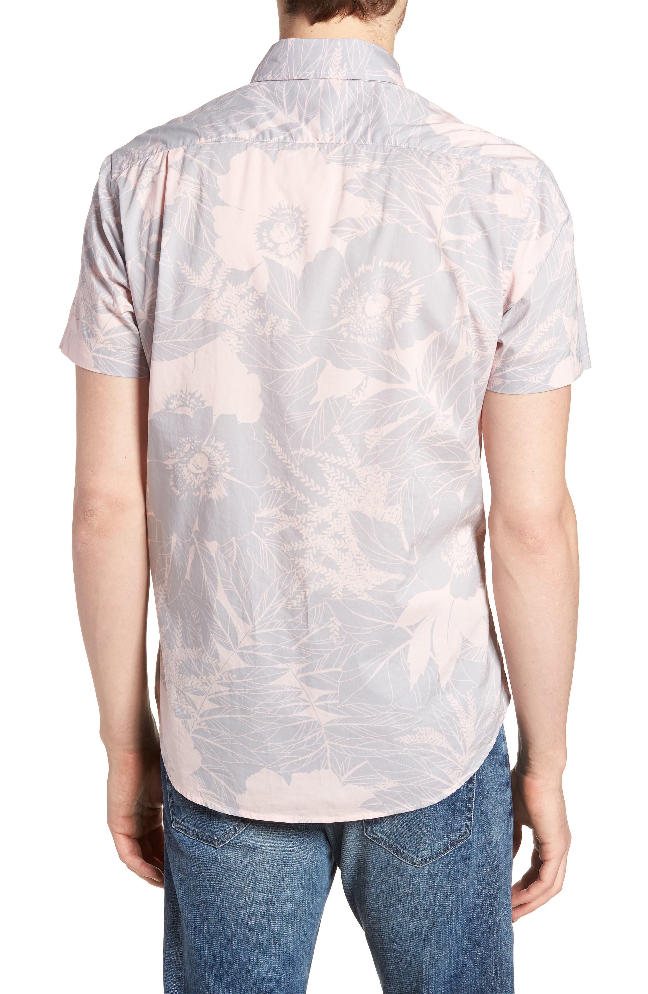 Riviera Slim Fit Floral Print Sport Shirt,                             Alternate thumbnail 2, color,                             LINEAR FLORAL - SKIVVY PINK