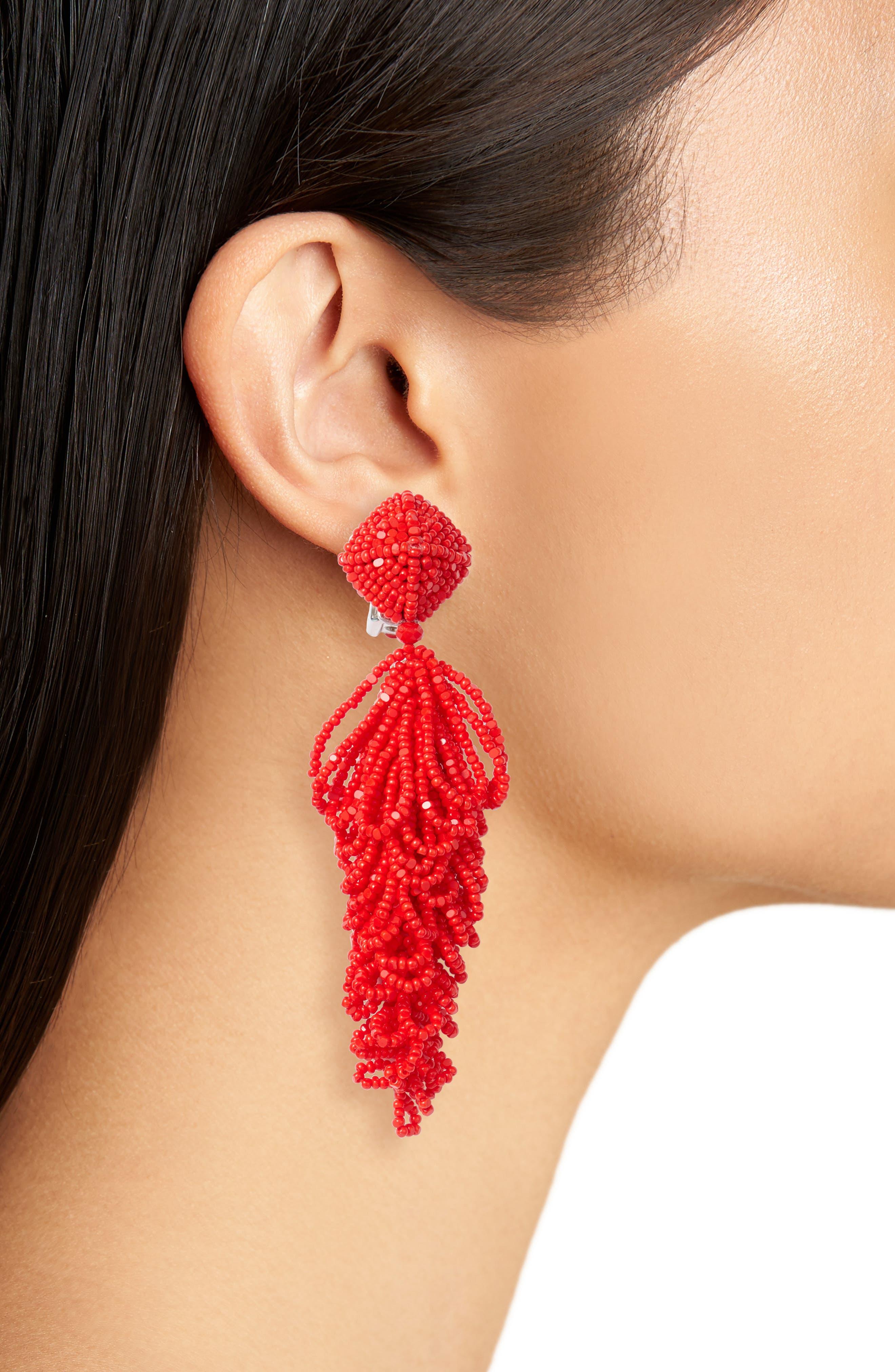 Noir Lulus Earrings,                             Alternate thumbnail 6, color,