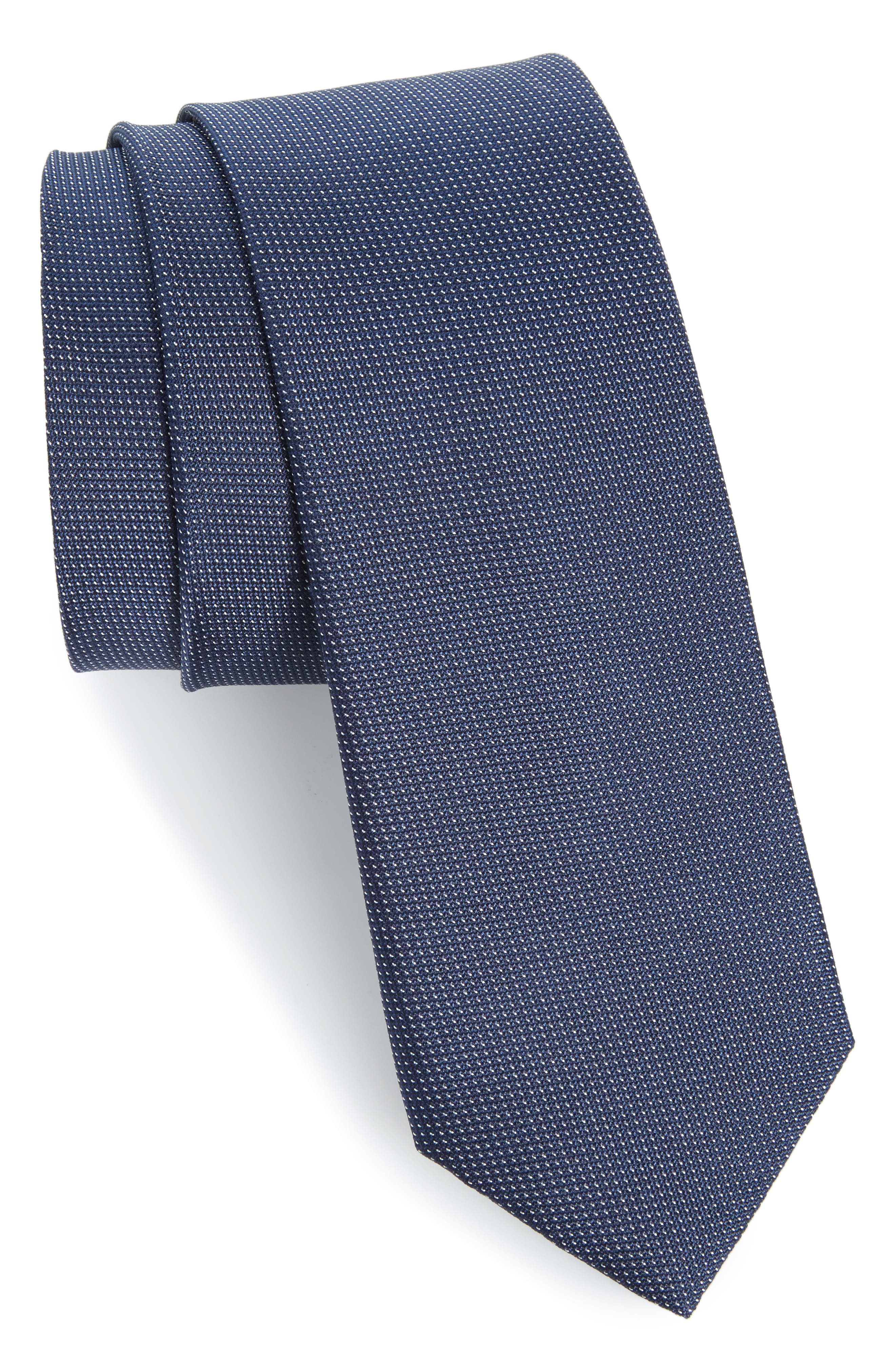 Eternity Unsolid Solid Silk Skinny Tie,                         Main,                         color, 411