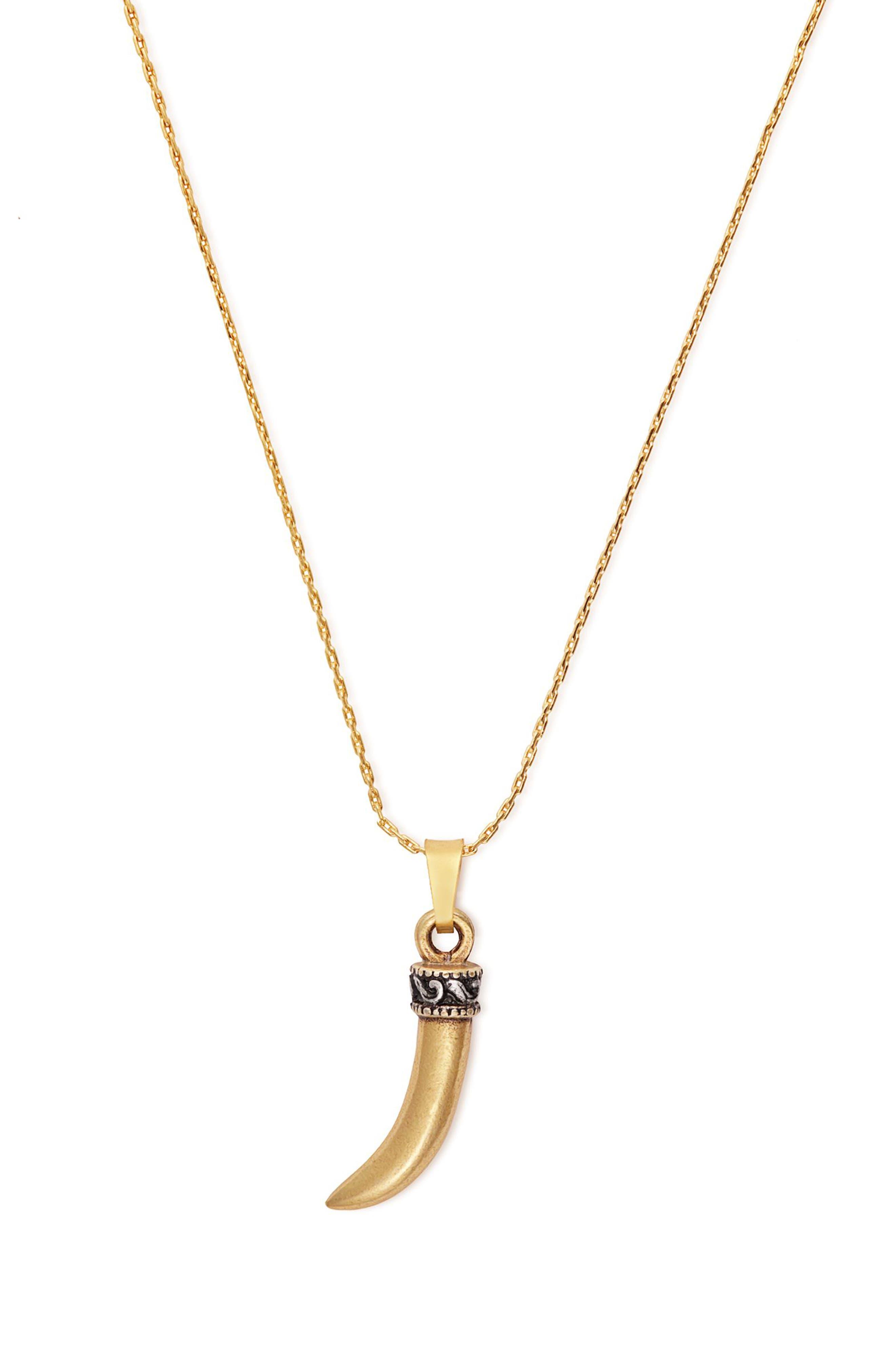 Horn Expandable Pendant Necklace,                             Alternate thumbnail 2, color,                             040