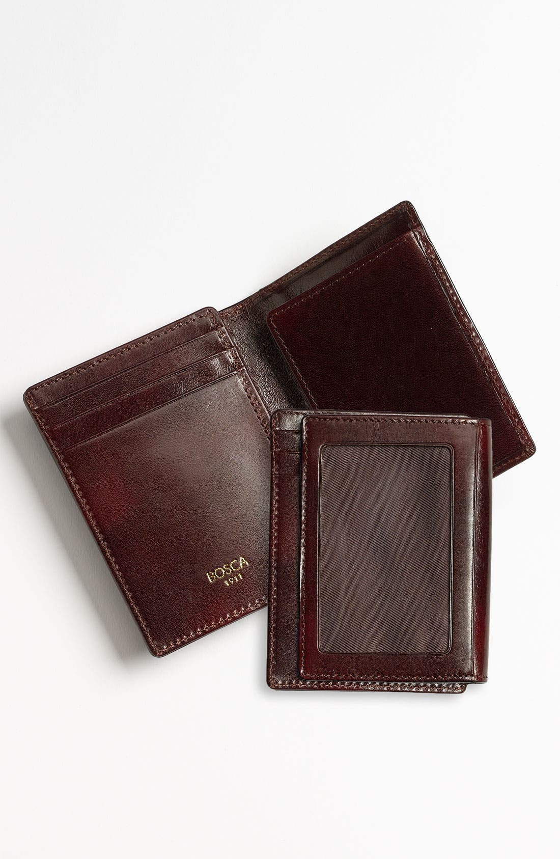 'Old Leather' Front Pocket ID Wallet,                             Alternate thumbnail 2, color,                             DARK BROWN