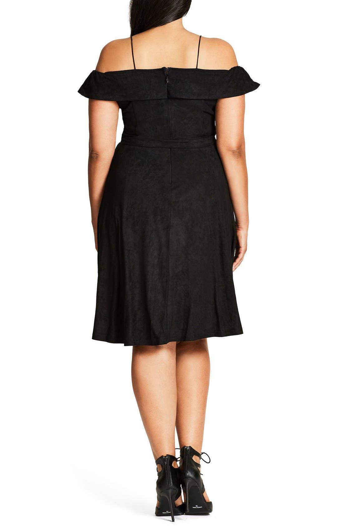 Ooh La La Faux Suede Dress,                             Alternate thumbnail 11, color,