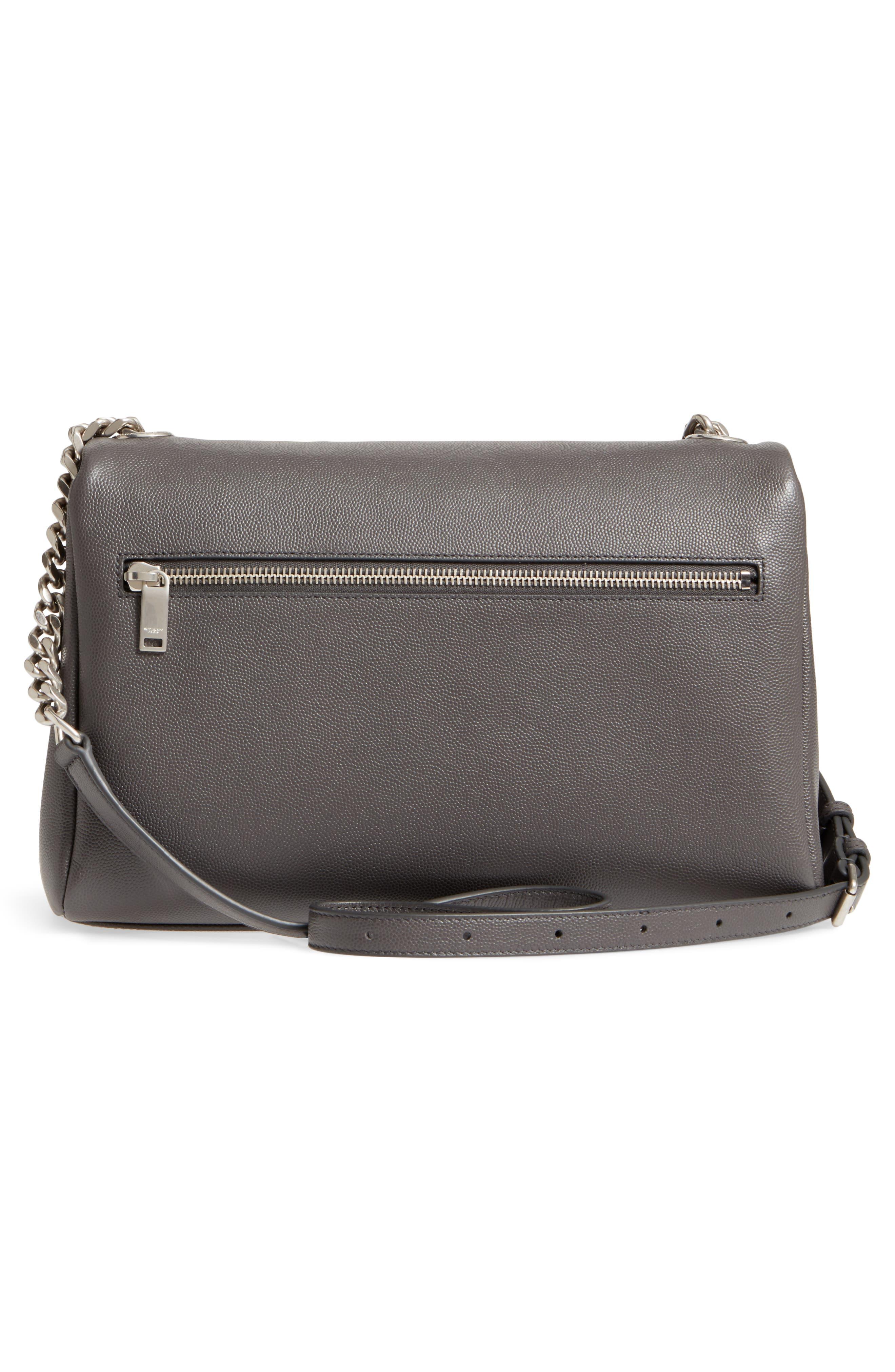 Medium West Hollywood Leather Shoulder Bag,                             Alternate thumbnail 3, color,                             064