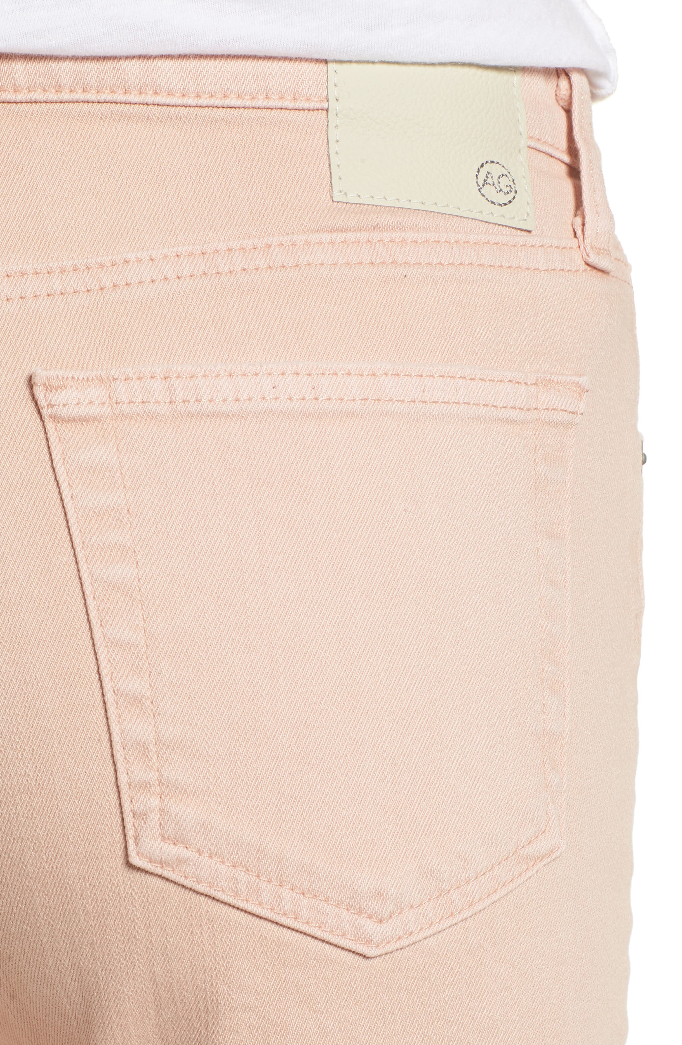 The Isabelle High Waist Crop Straight Leg Jeans,                             Alternate thumbnail 4, color,                             1 YEAR SULFUR ROSY ROGUE
