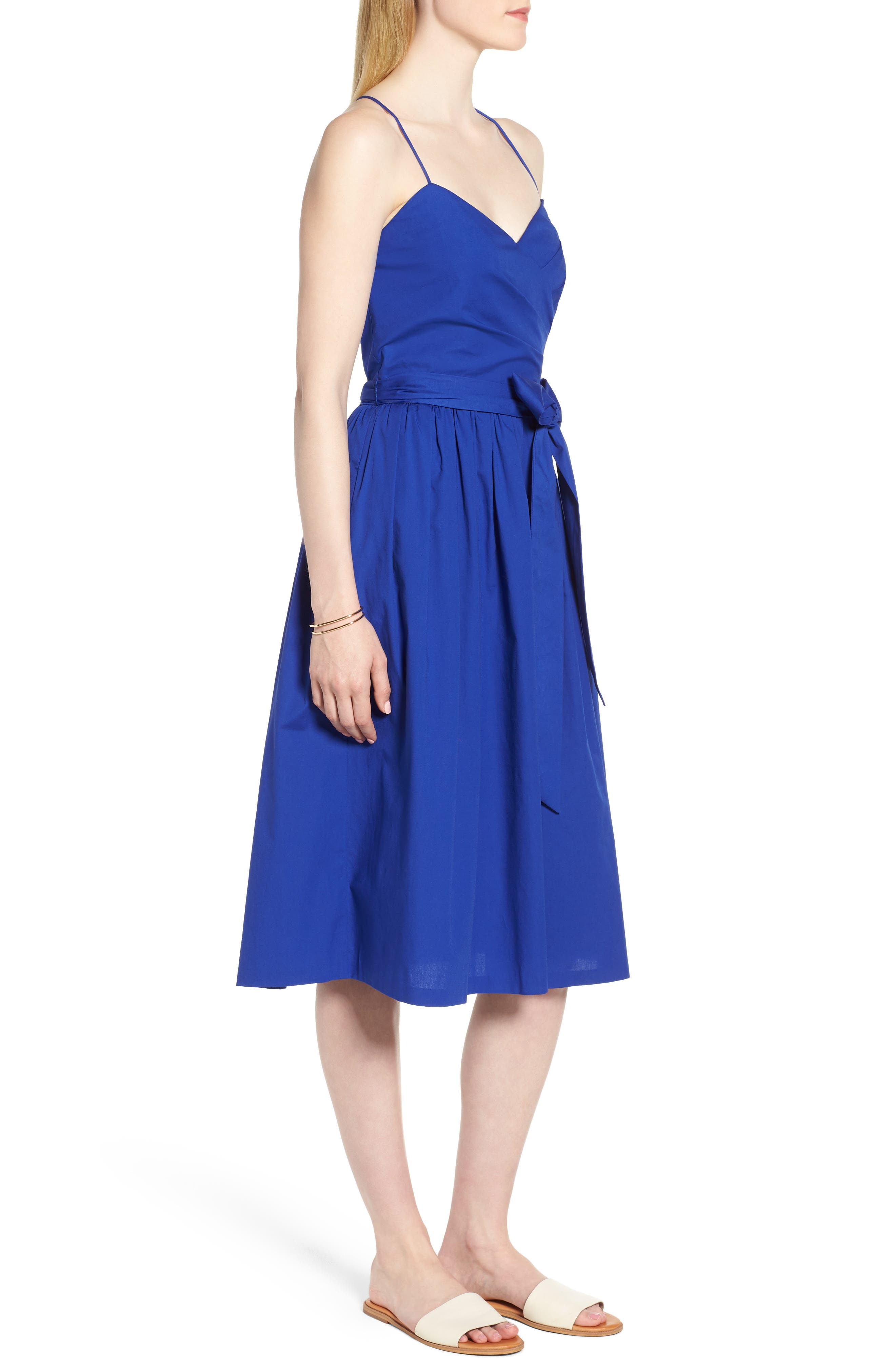 Strappy Fit & Flare Midi Dress,                             Alternate thumbnail 7, color,