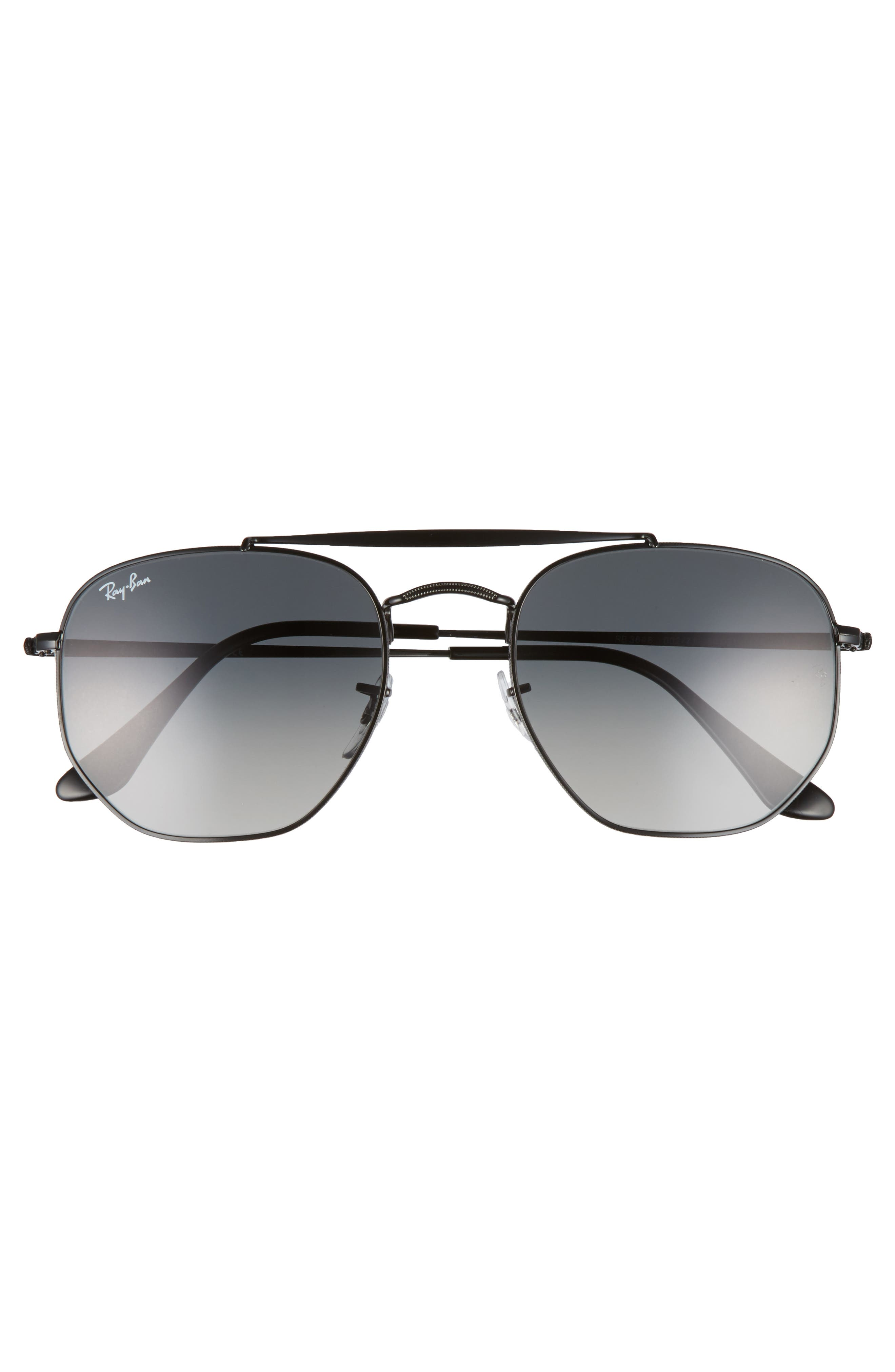 54mm Gradient Sunglasses,                             Alternate thumbnail 3, color,                             001