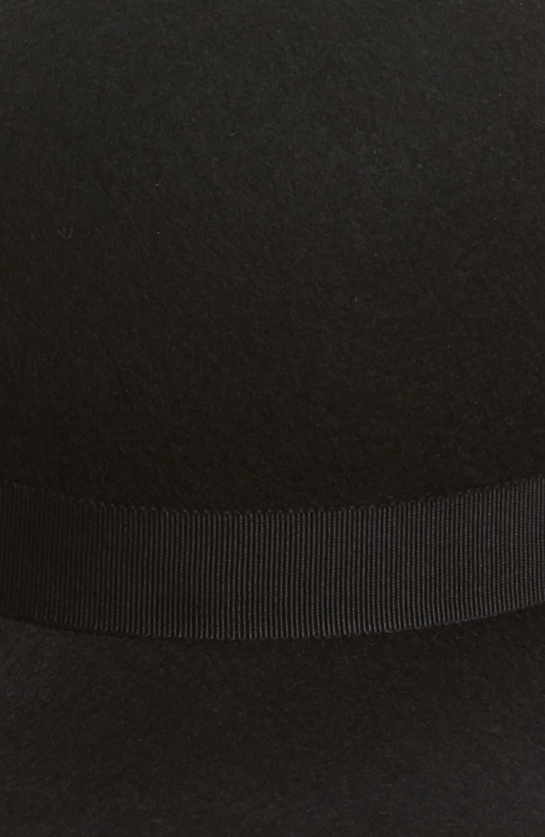 Floppy Felt Hat,                             Alternate thumbnail 2, color,                             001