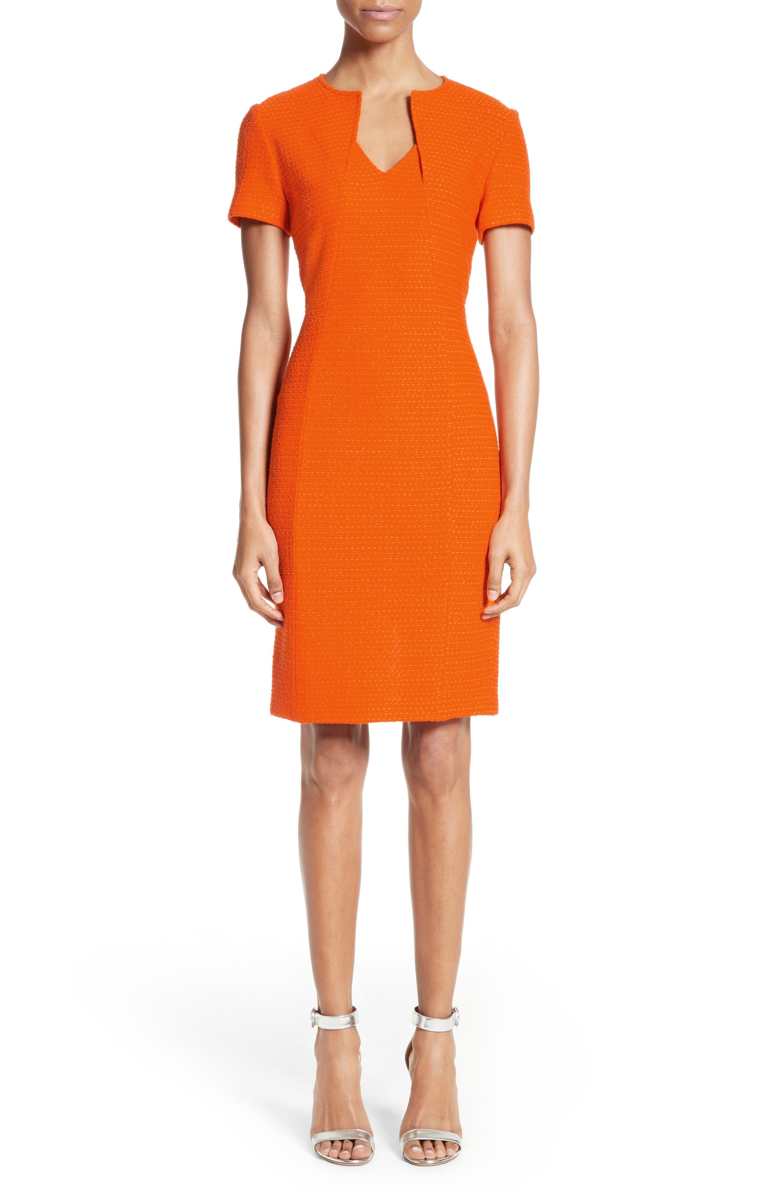 Ribbon Texture Knit Dress,                             Main thumbnail 1, color,                             820