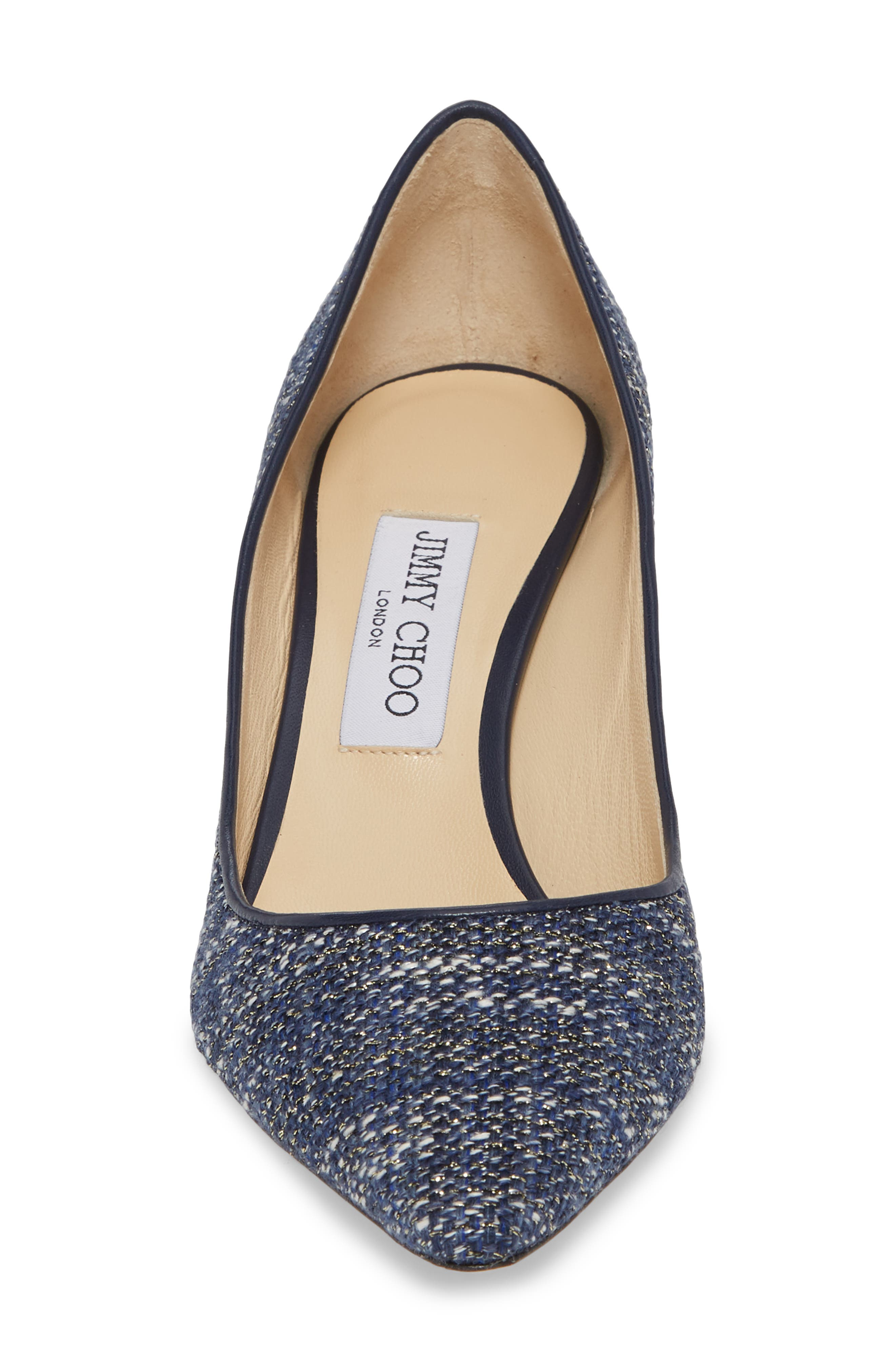 Romy Woven Pointy Toe Pump,                             Alternate thumbnail 4, color,                             410
