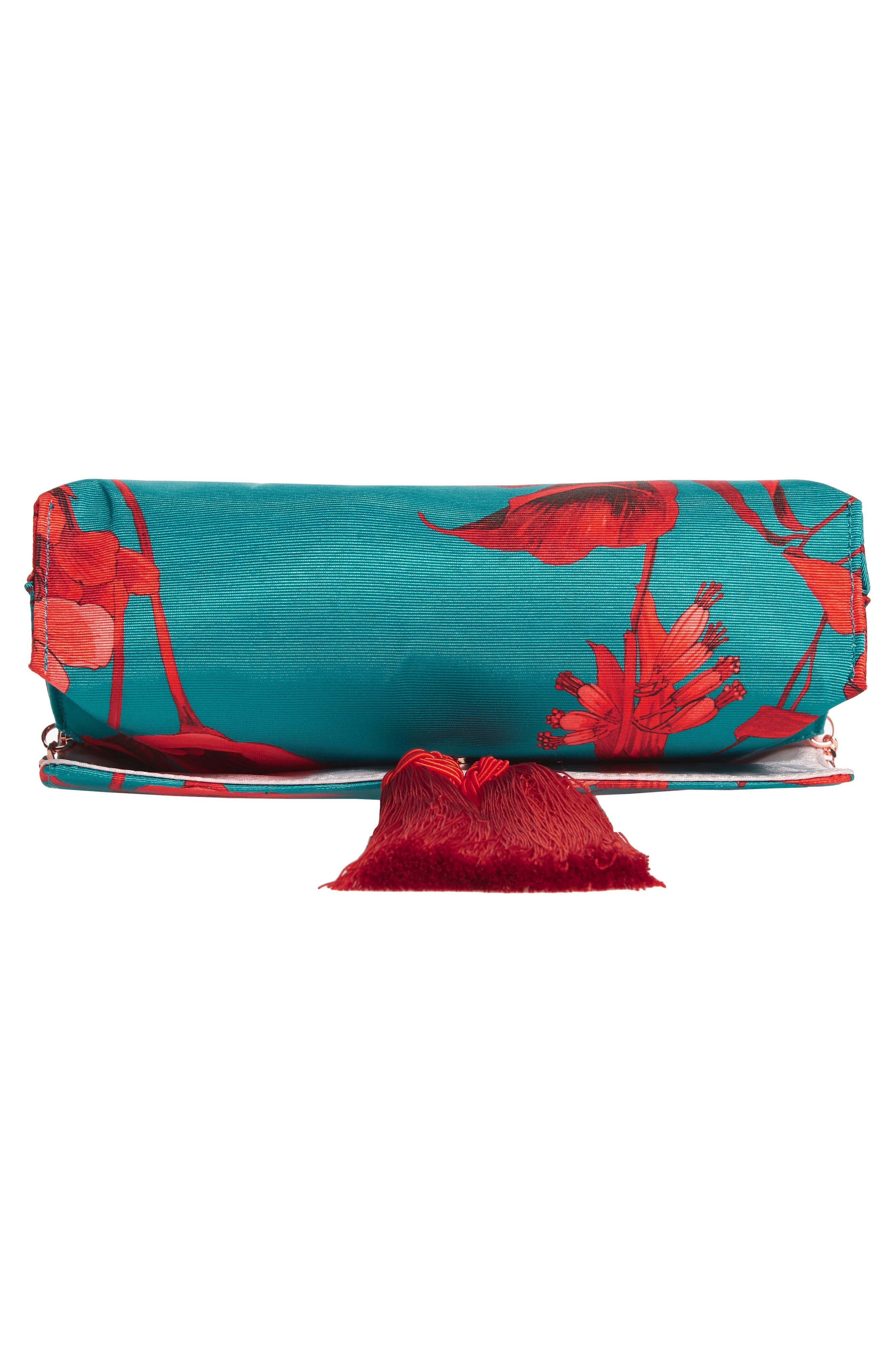 Darlee Fantasia Tassel Bag,                             Alternate thumbnail 7, color,                             TURQUOISE