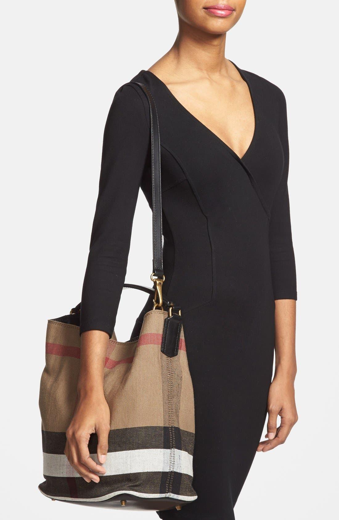 'Susanna - Medium' Bucket Bag,                             Alternate thumbnail 4, color,                             001