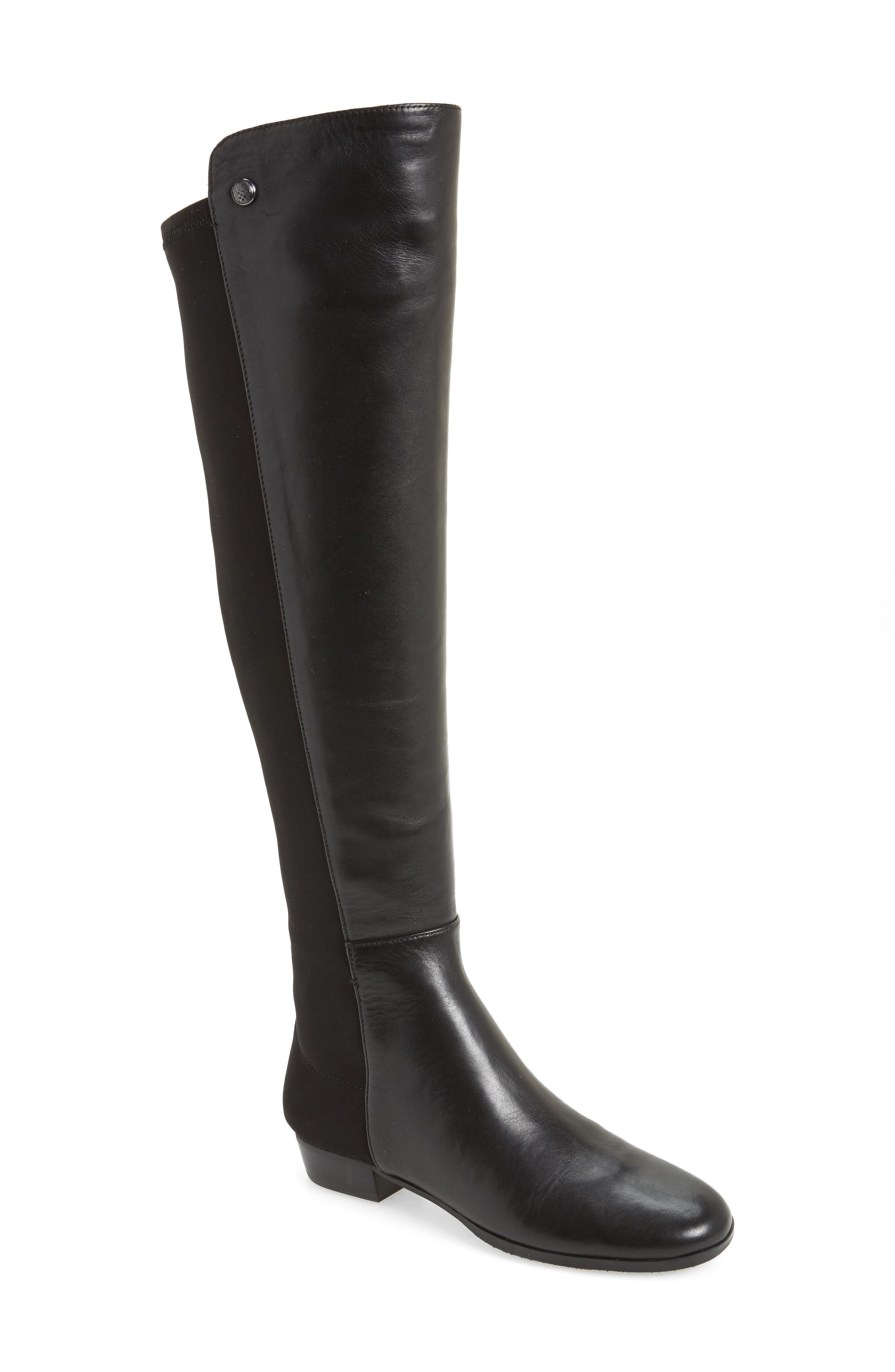 'Karita' Over the Knee Boot,                         Main,                         color, BLACK/ BLACK