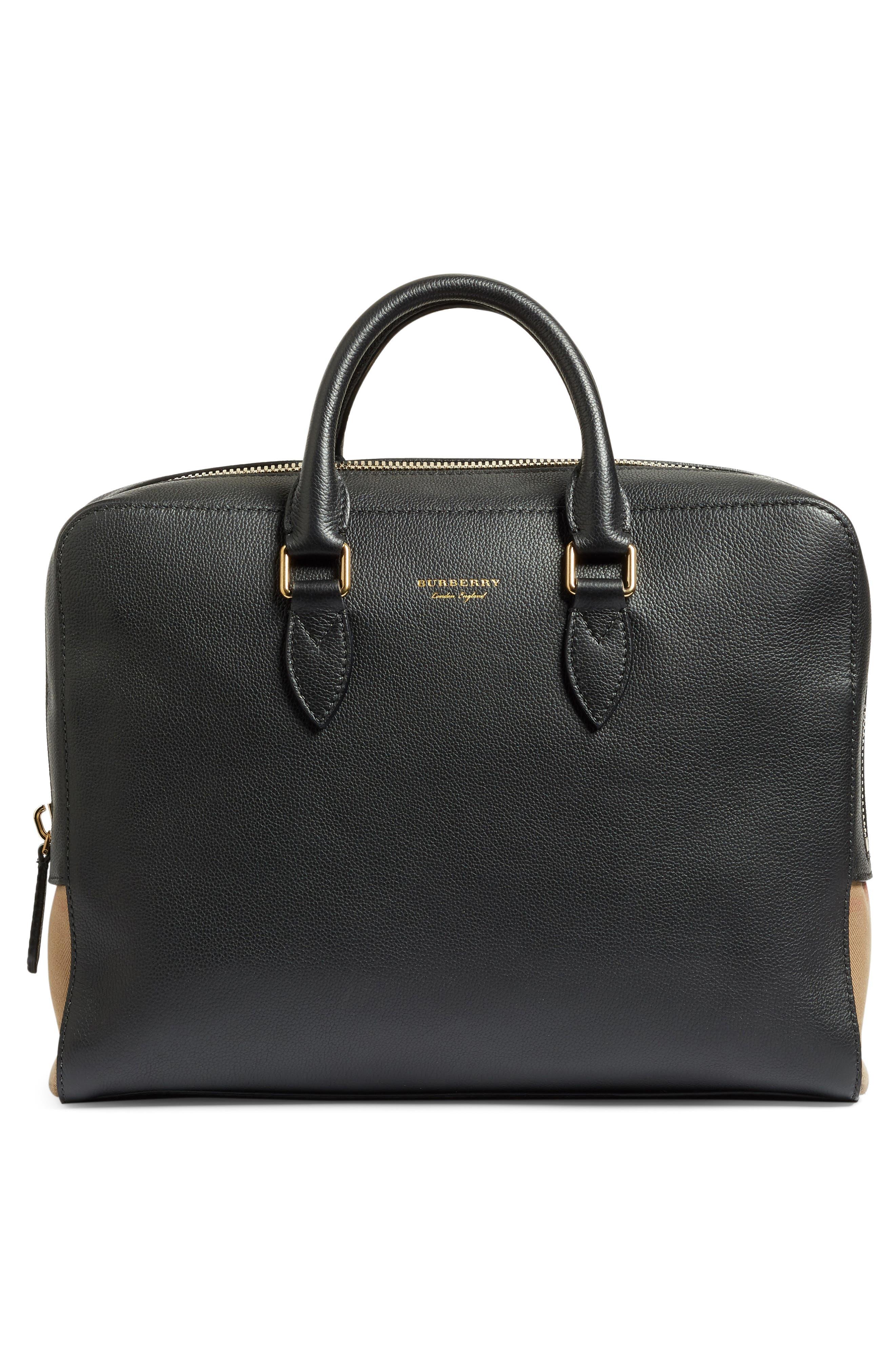 Horton Leather Briefcase,                             Alternate thumbnail 2, color,                             001