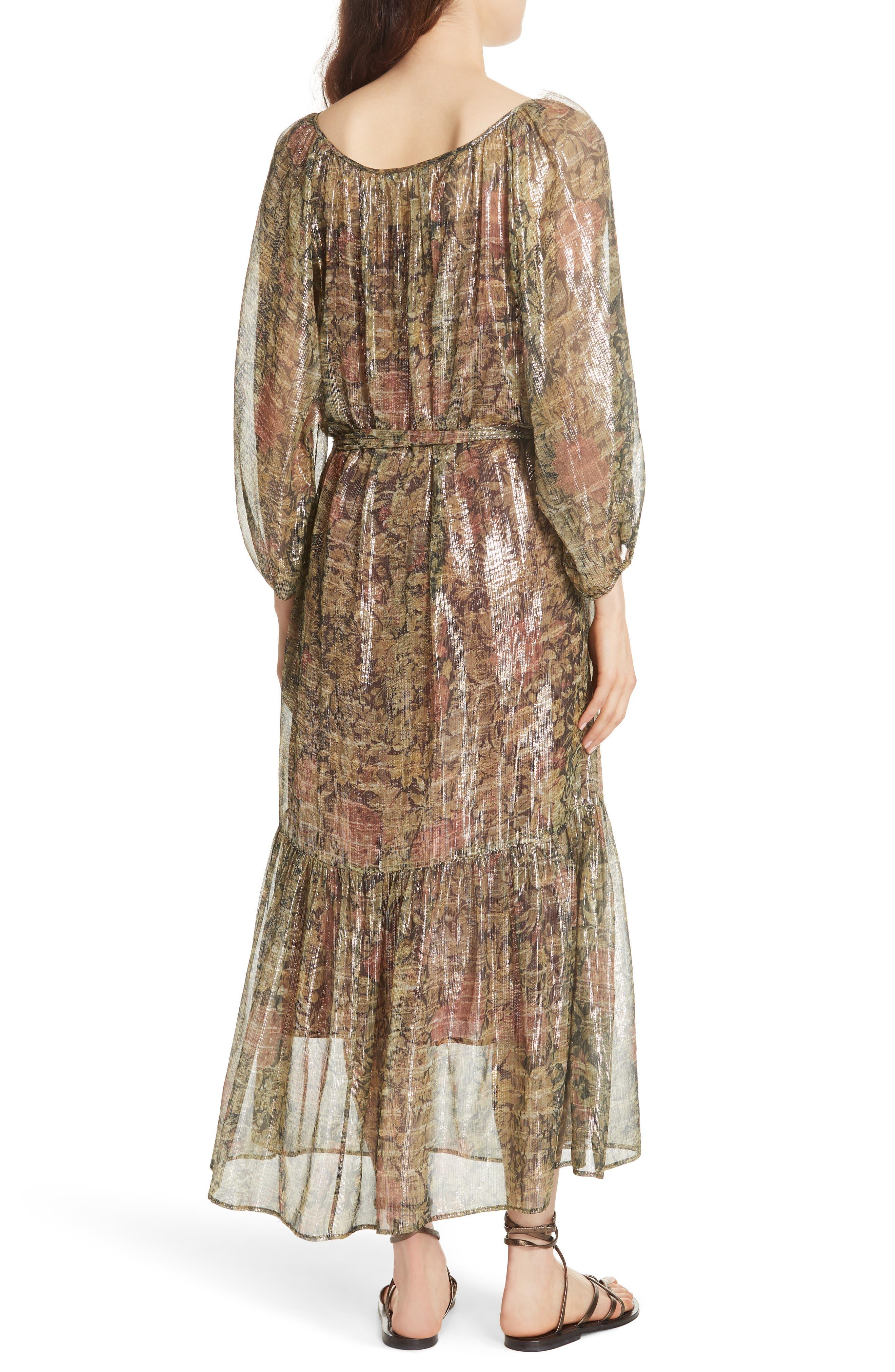 Print Dress,                             Alternate thumbnail 2, color,                             391