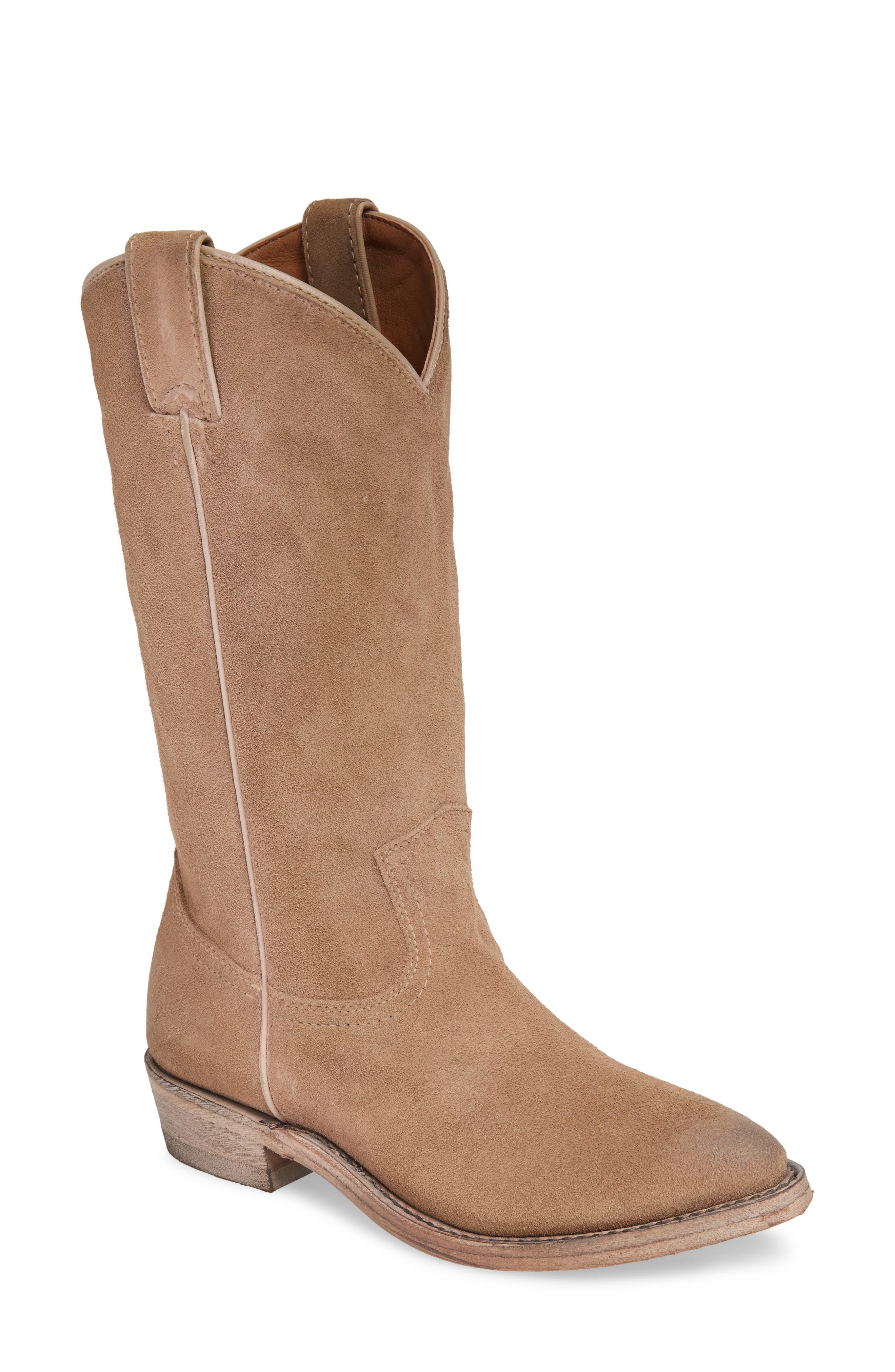 Frye Billy Western Boot- Beige