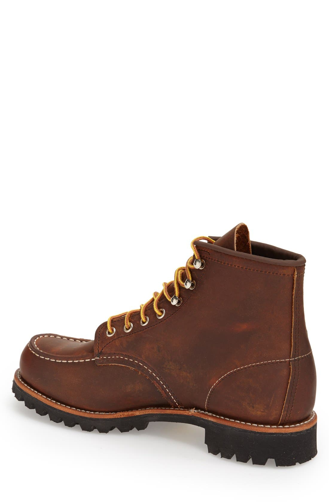 'Roughneck' Boot,                             Alternate thumbnail 4, color,                             COPPER ROUGH AND TOUGH LEATHER