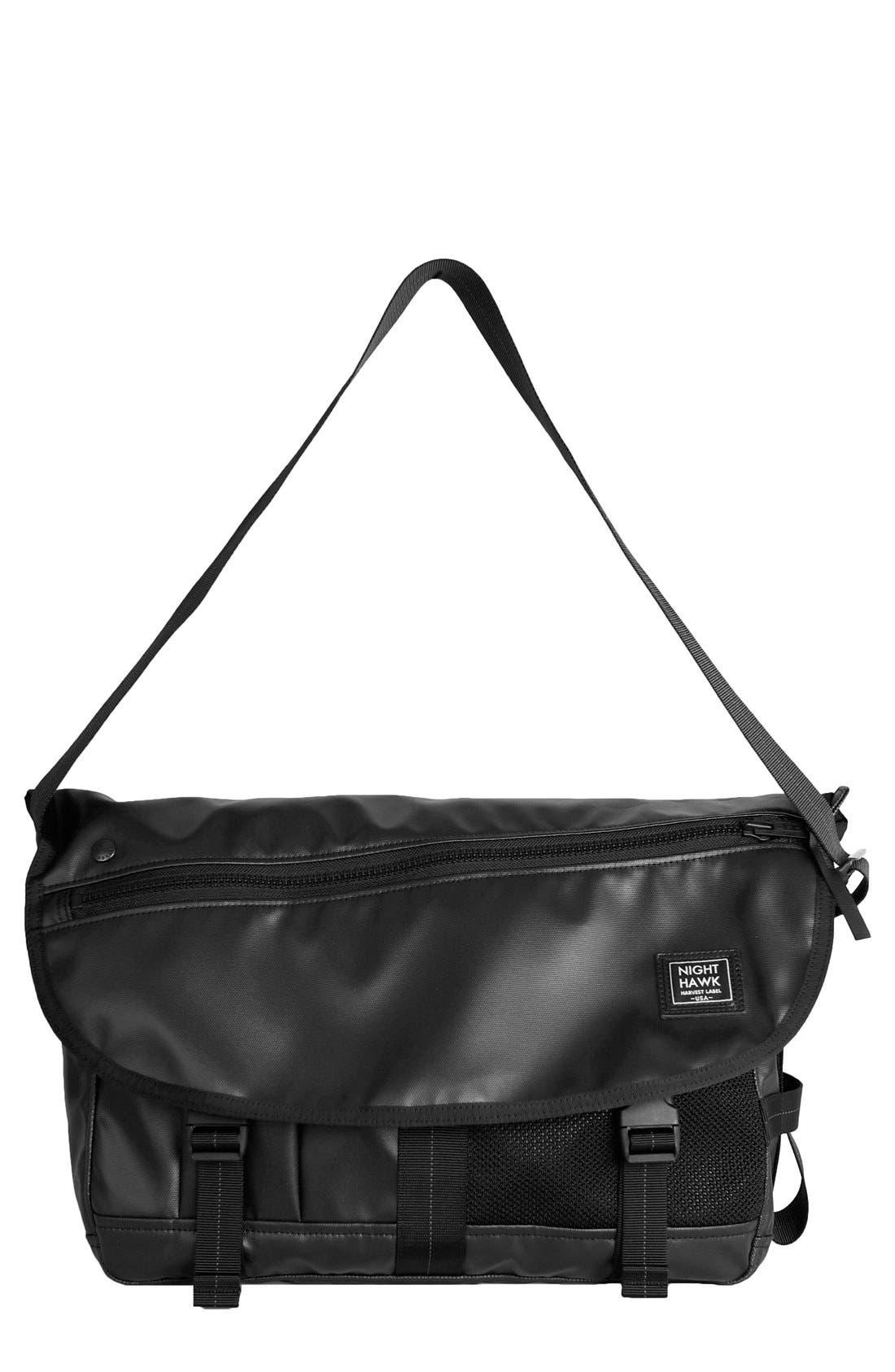 'NightHawk' Messenger Bag,                         Main,                         color, BLACK