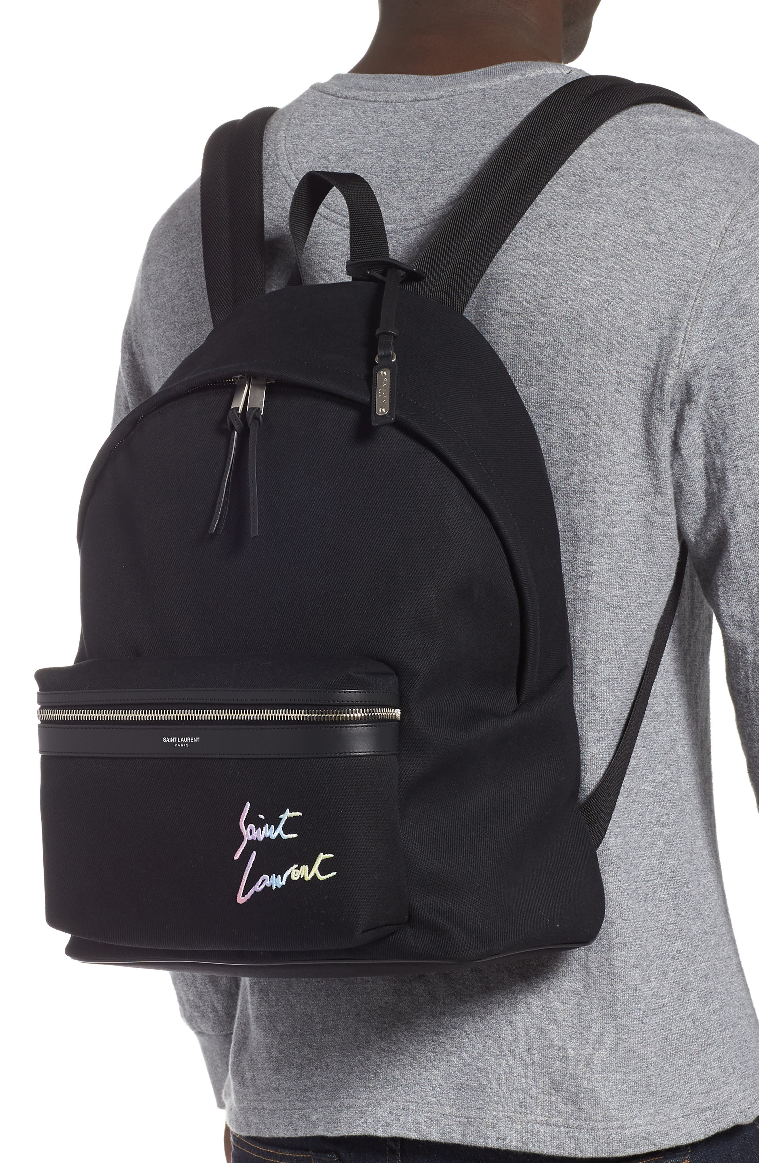 City Canvas Backpack,                             Alternate thumbnail 2, color,                             BLACK