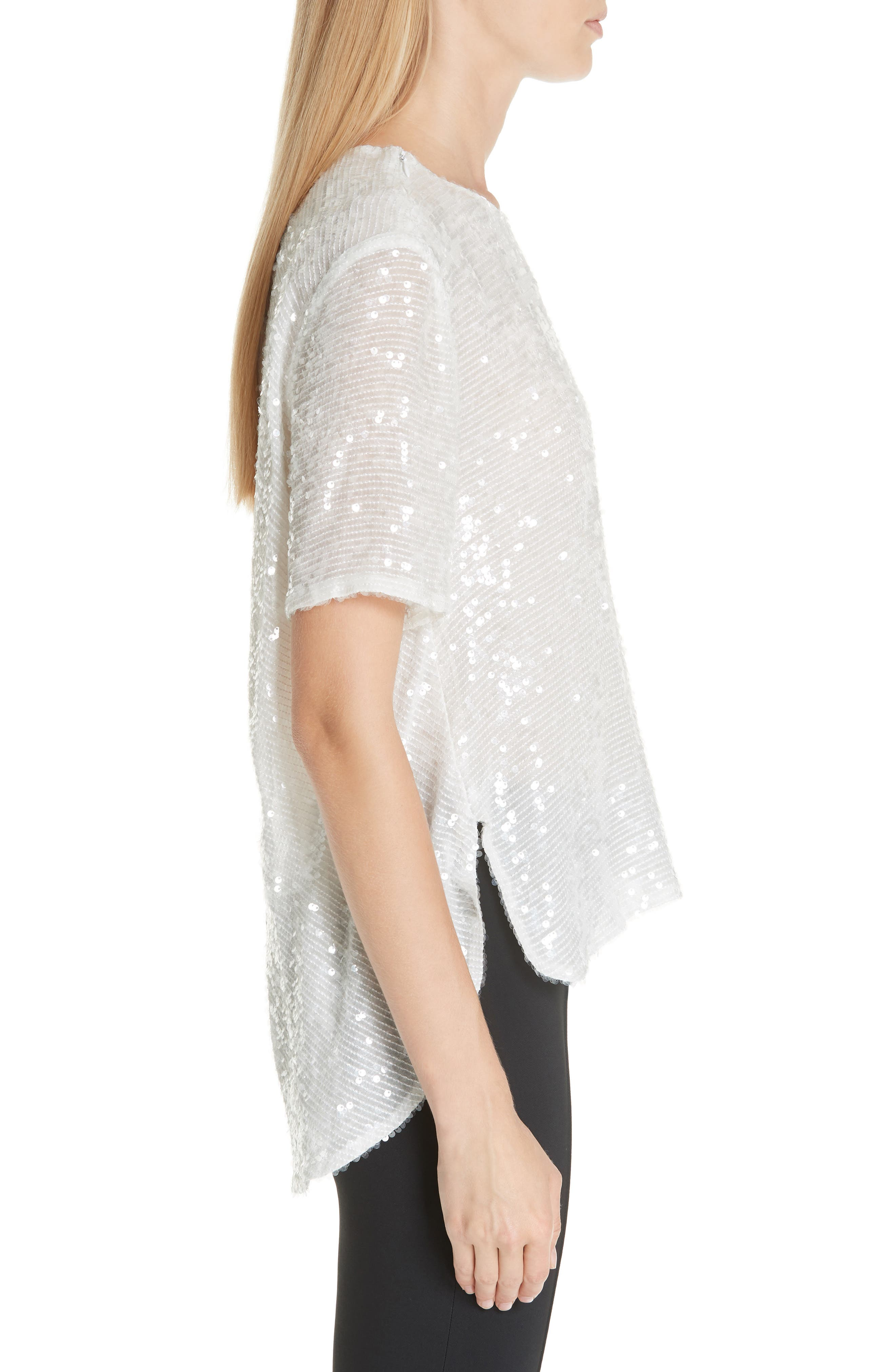 ADAM LIPPES,                             Open Back Sequin Embroidered Blouse,                             Alternate thumbnail 3, color,                             906