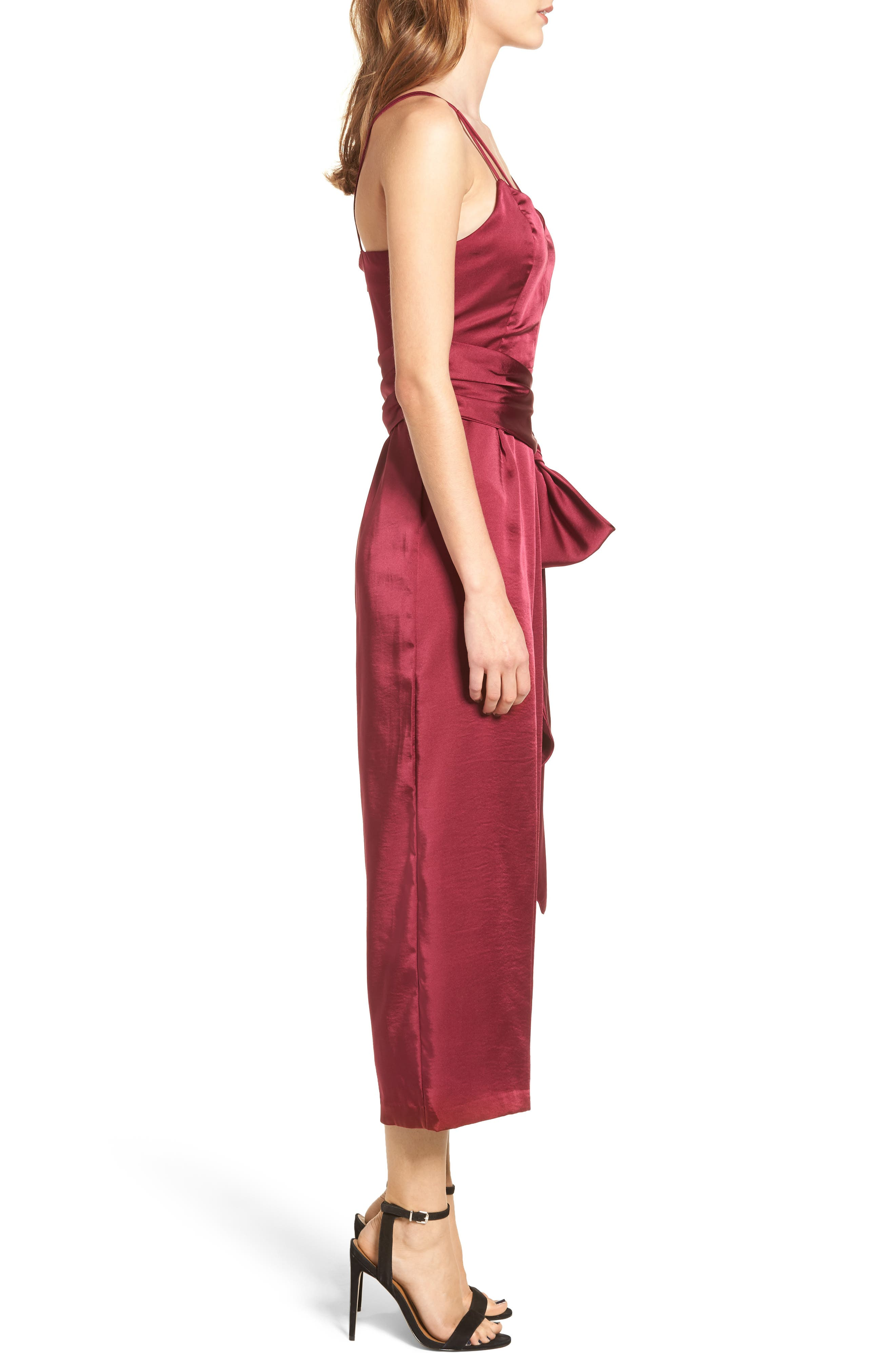 Strappy Satin Jumpsuit,                             Alternate thumbnail 3, color,                             650