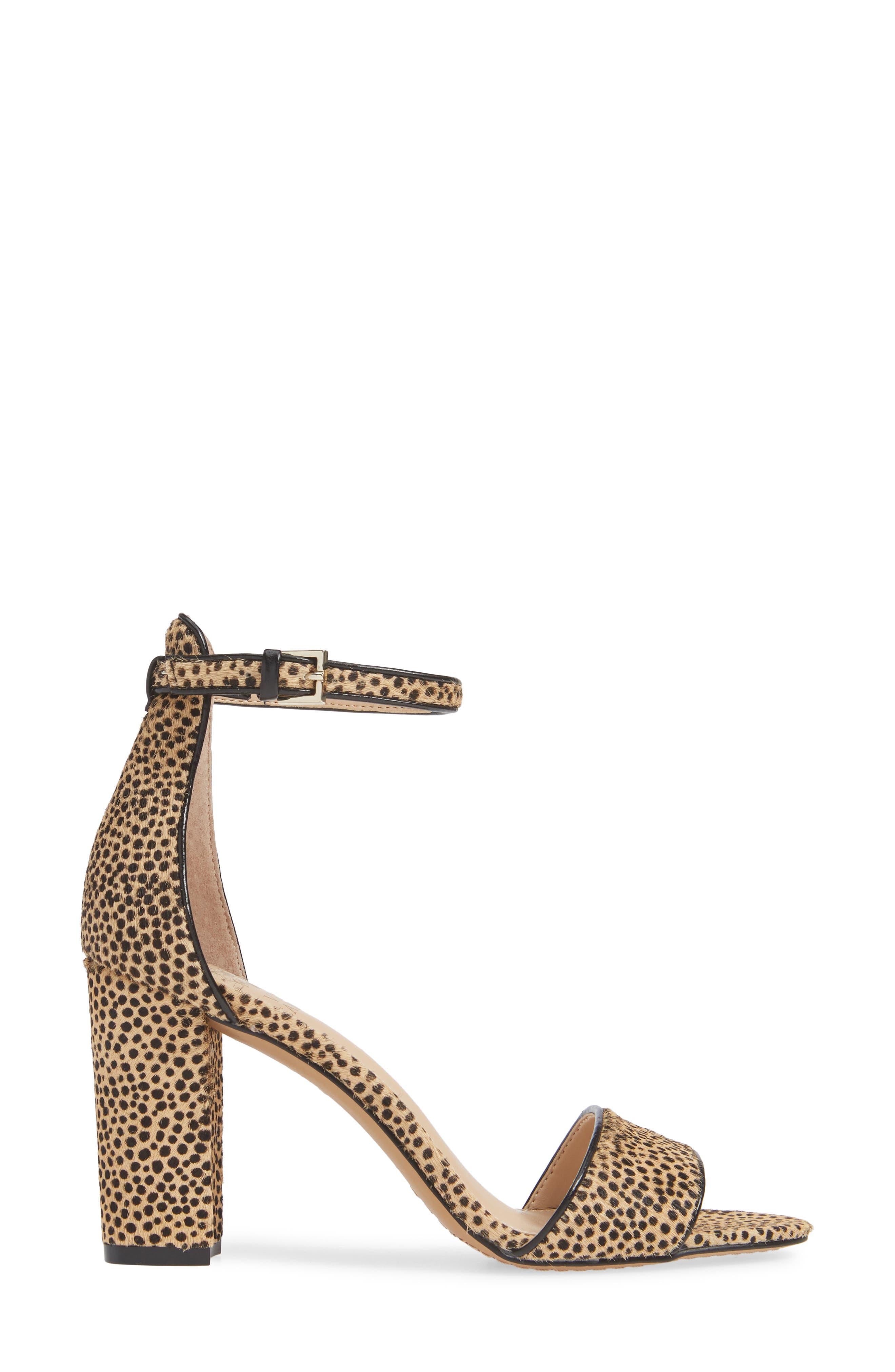 Corlina Genuine Calf Hair Ankle Strap Sandal,                             Alternate thumbnail 3, color,                             NATURAL SPOTTED CALF HAIR