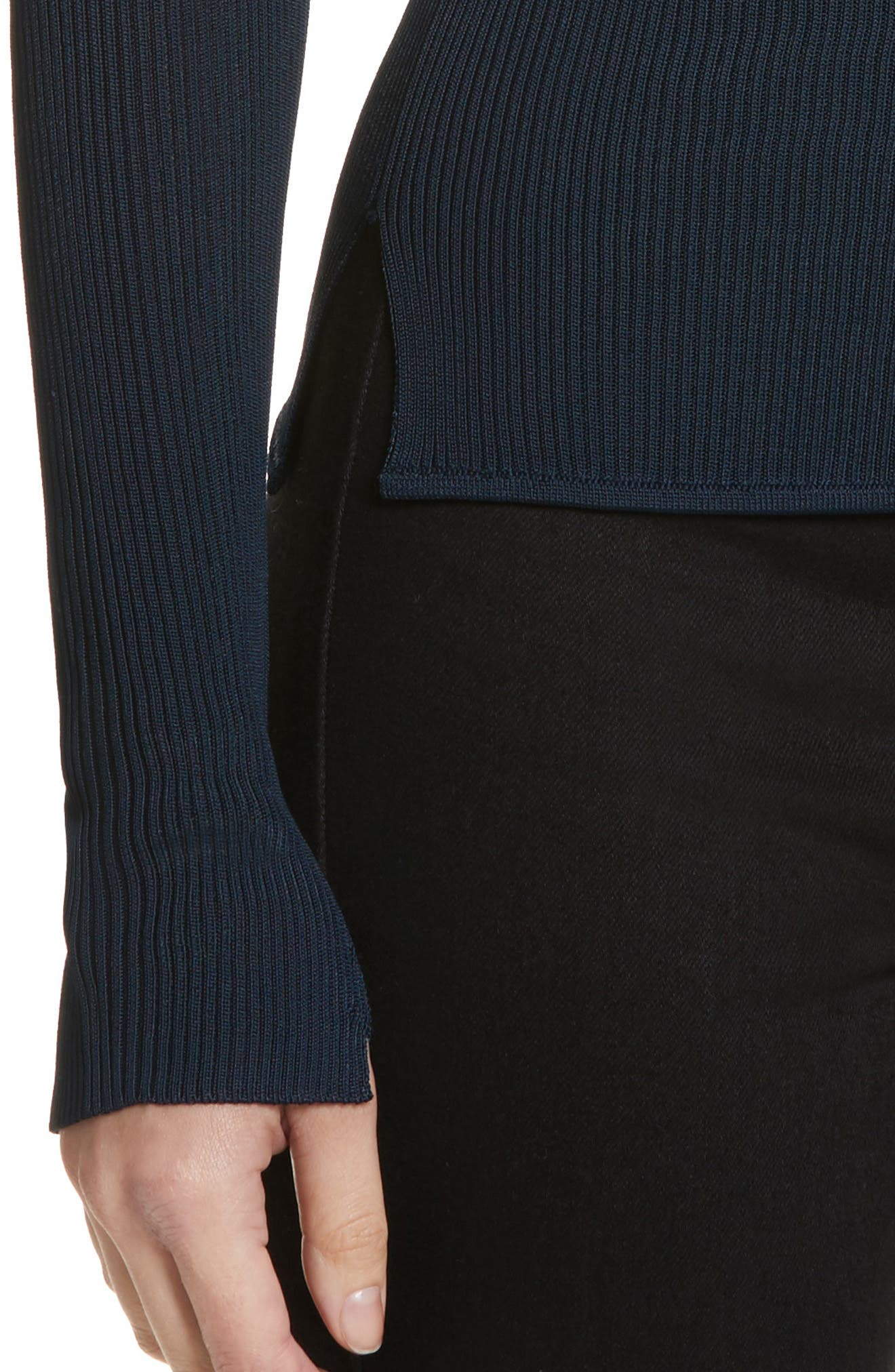Sylvia Split Cuff Sweater,                             Alternate thumbnail 4, color,                             410