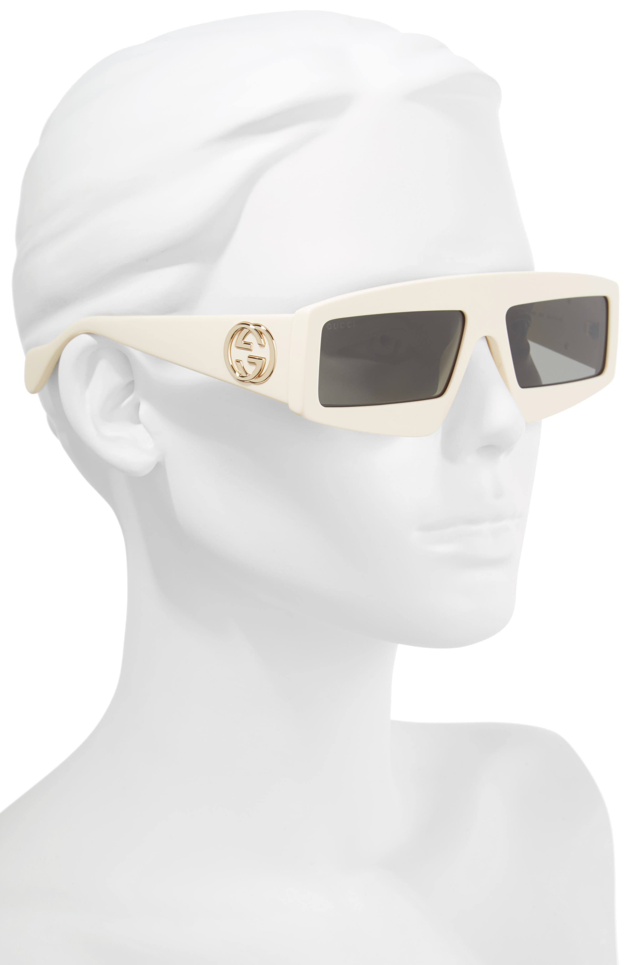 61mm Shield Sunglasses,                             Alternate thumbnail 2, color,                             IVORY