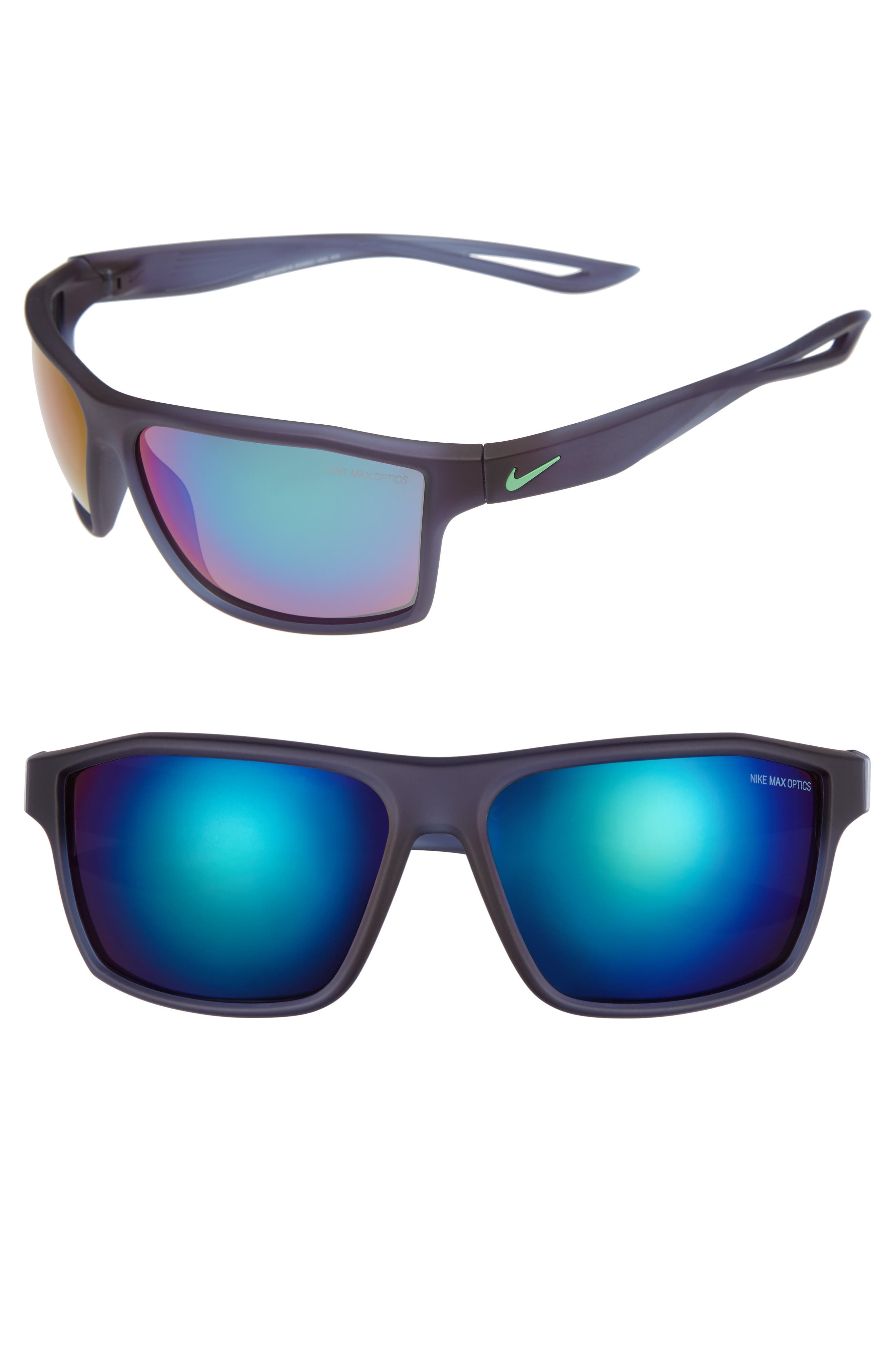 Legend 65mm Mirrored Multi-Sport Sunglasses,                             Main thumbnail 1, color,                             MATTE MIDNIGHT NAVY