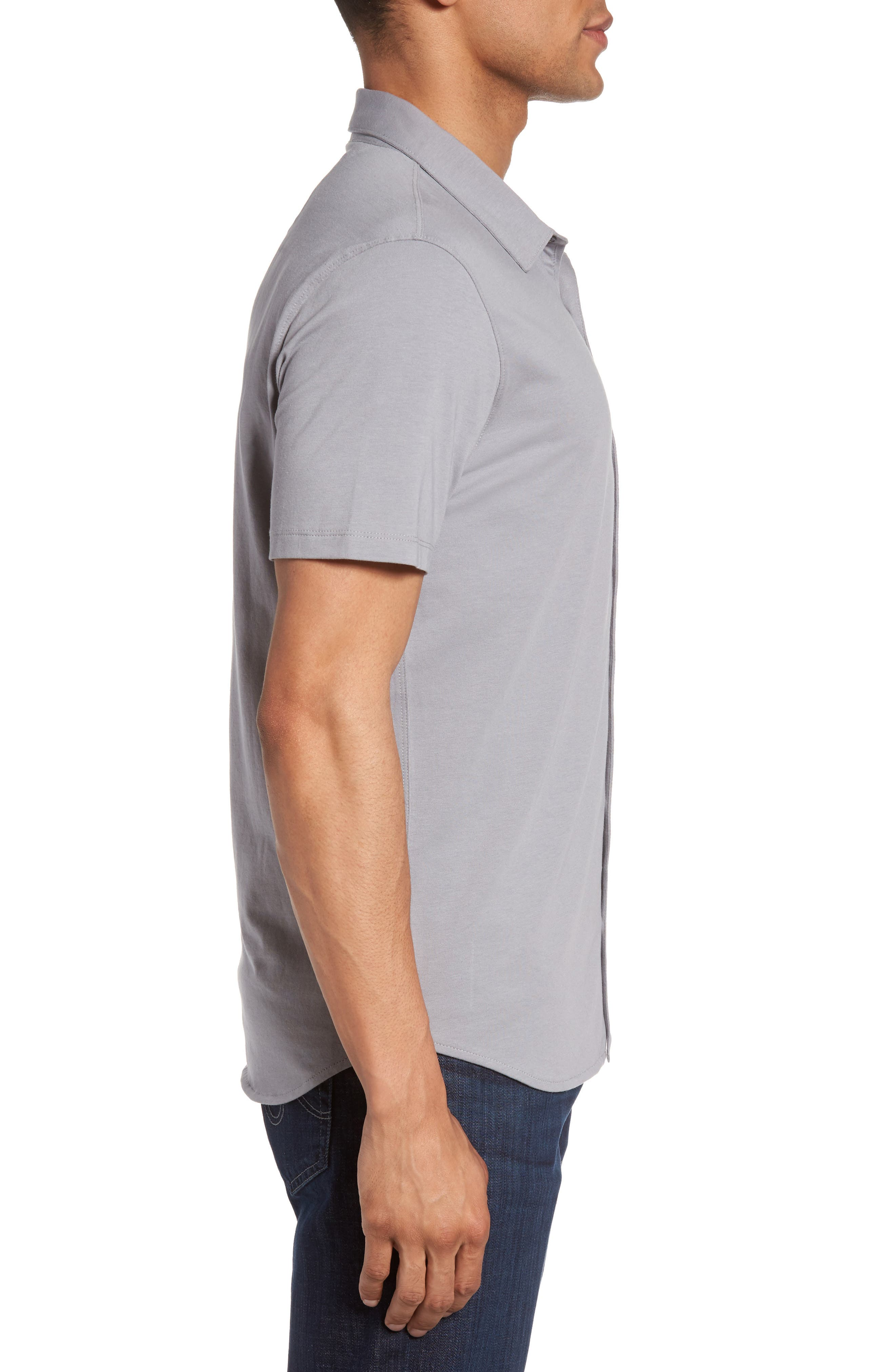 Knit Short Sleeve Sport Shirt,                             Alternate thumbnail 6, color,