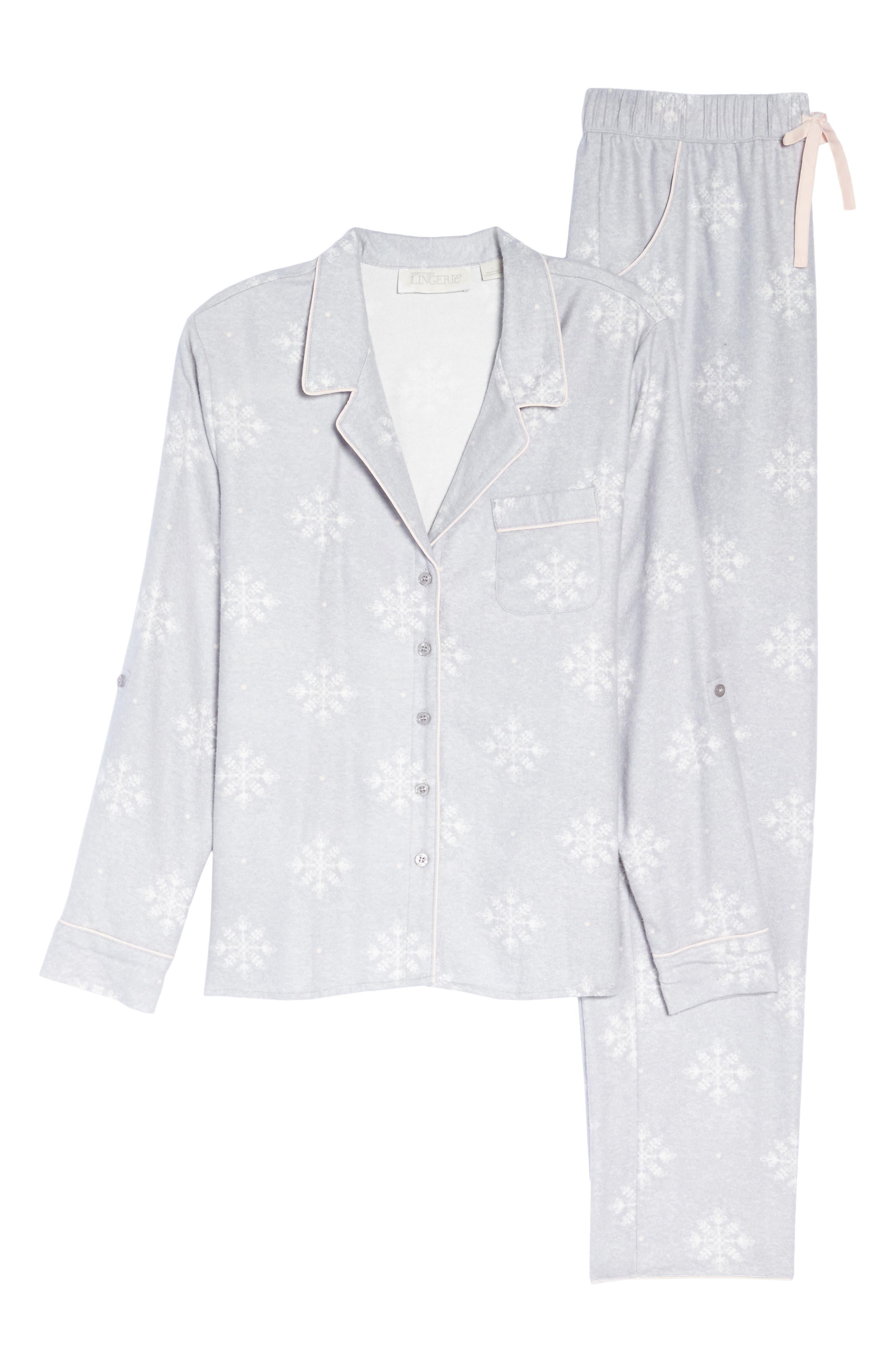 Lingerie Starlight Flannel Pajamas,                             Alternate thumbnail 26, color,