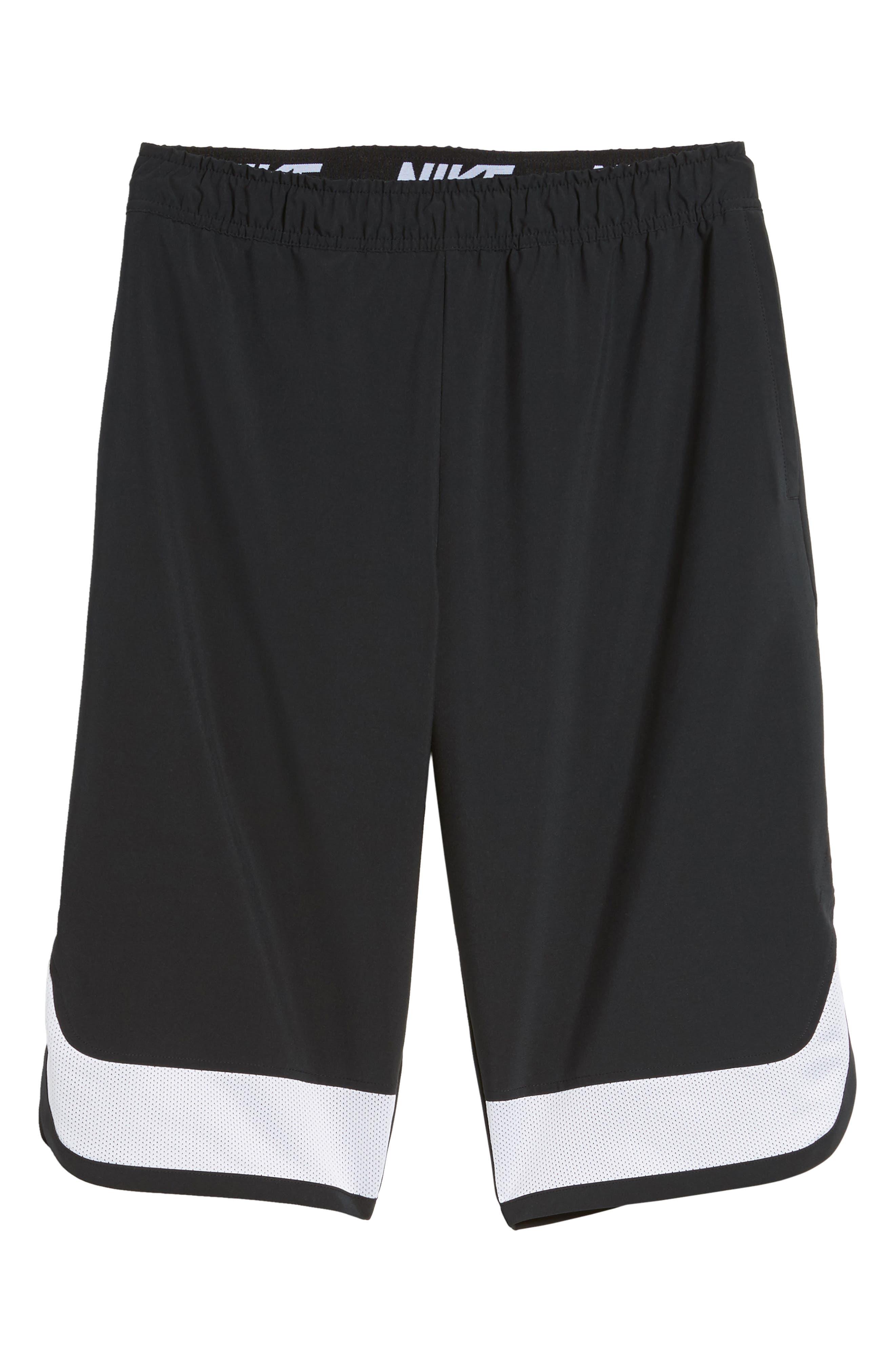 Training Flex PX Shorts,                             Alternate thumbnail 6, color,                             BLACK/ WHITE/ WHITE