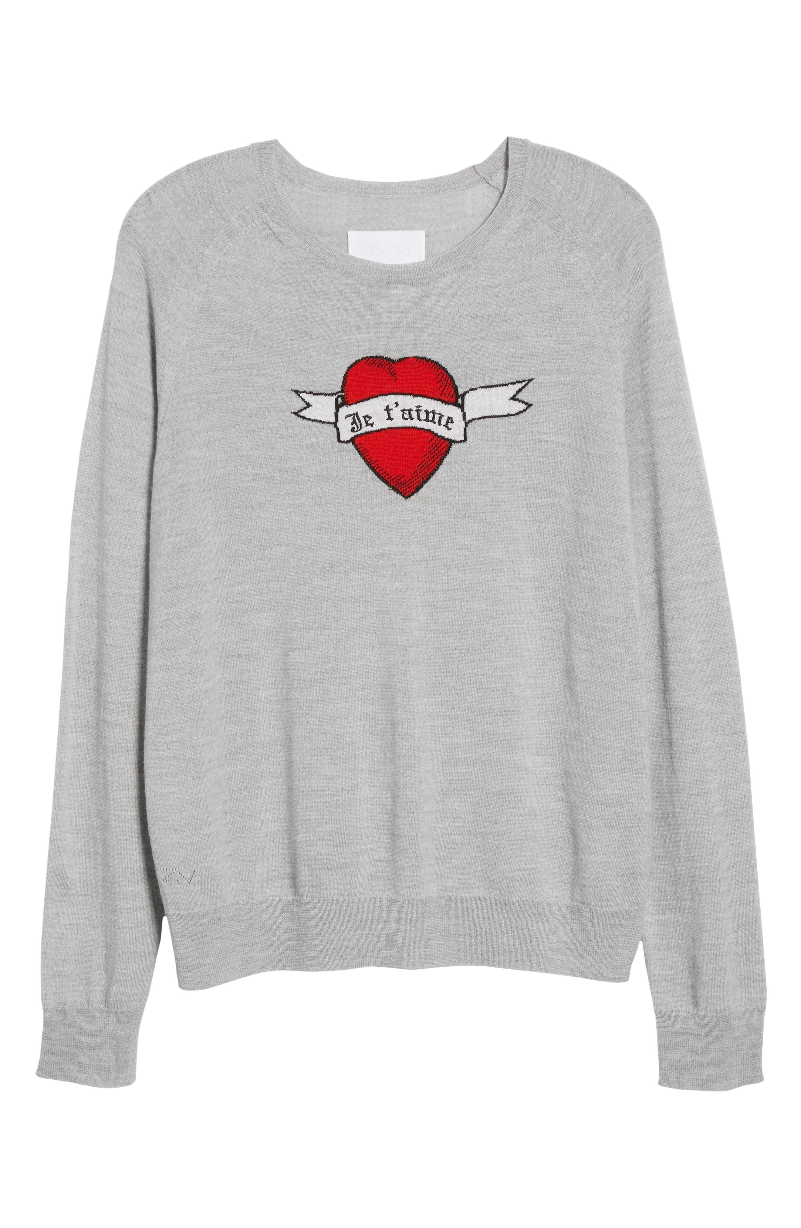 Rime Bis Merino Wool Sweater,                             Alternate thumbnail 6, color,                             078