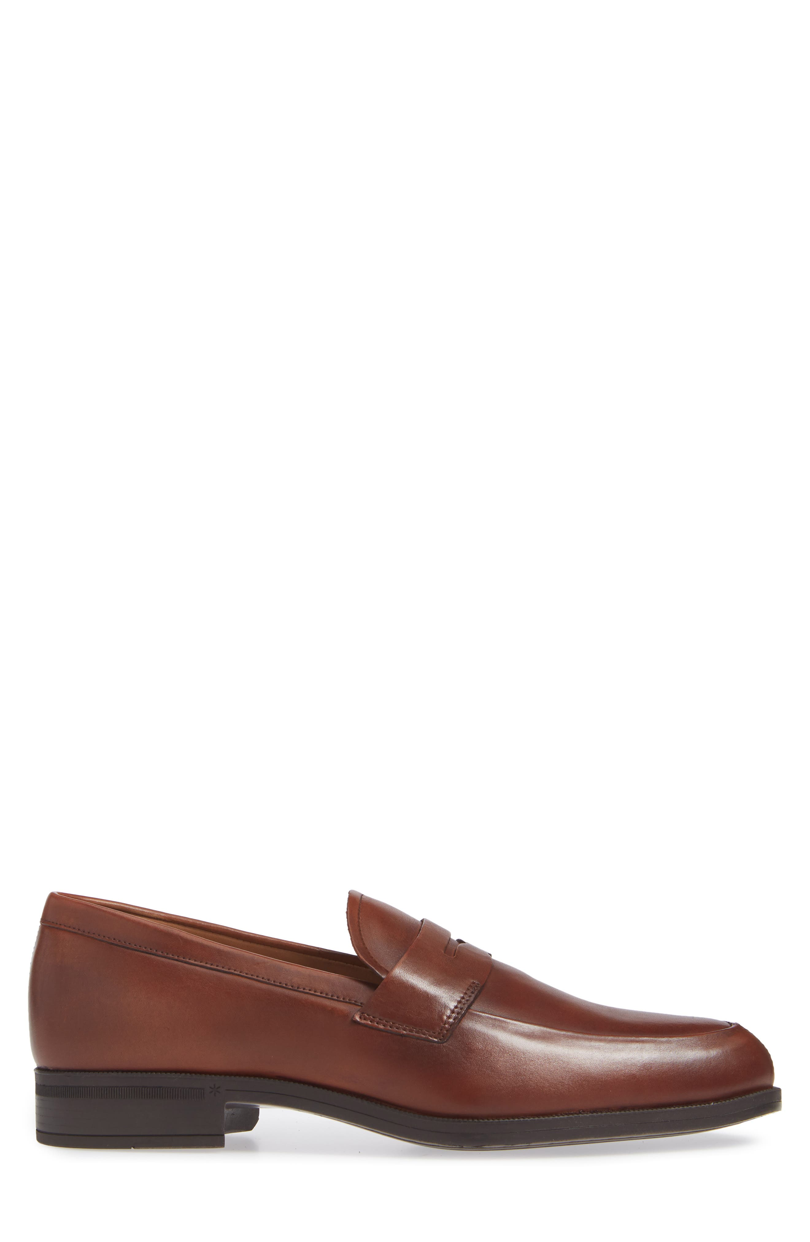 Iggi Penny Loafer,                             Alternate thumbnail 3, color,                             COGNAC LEATHER
