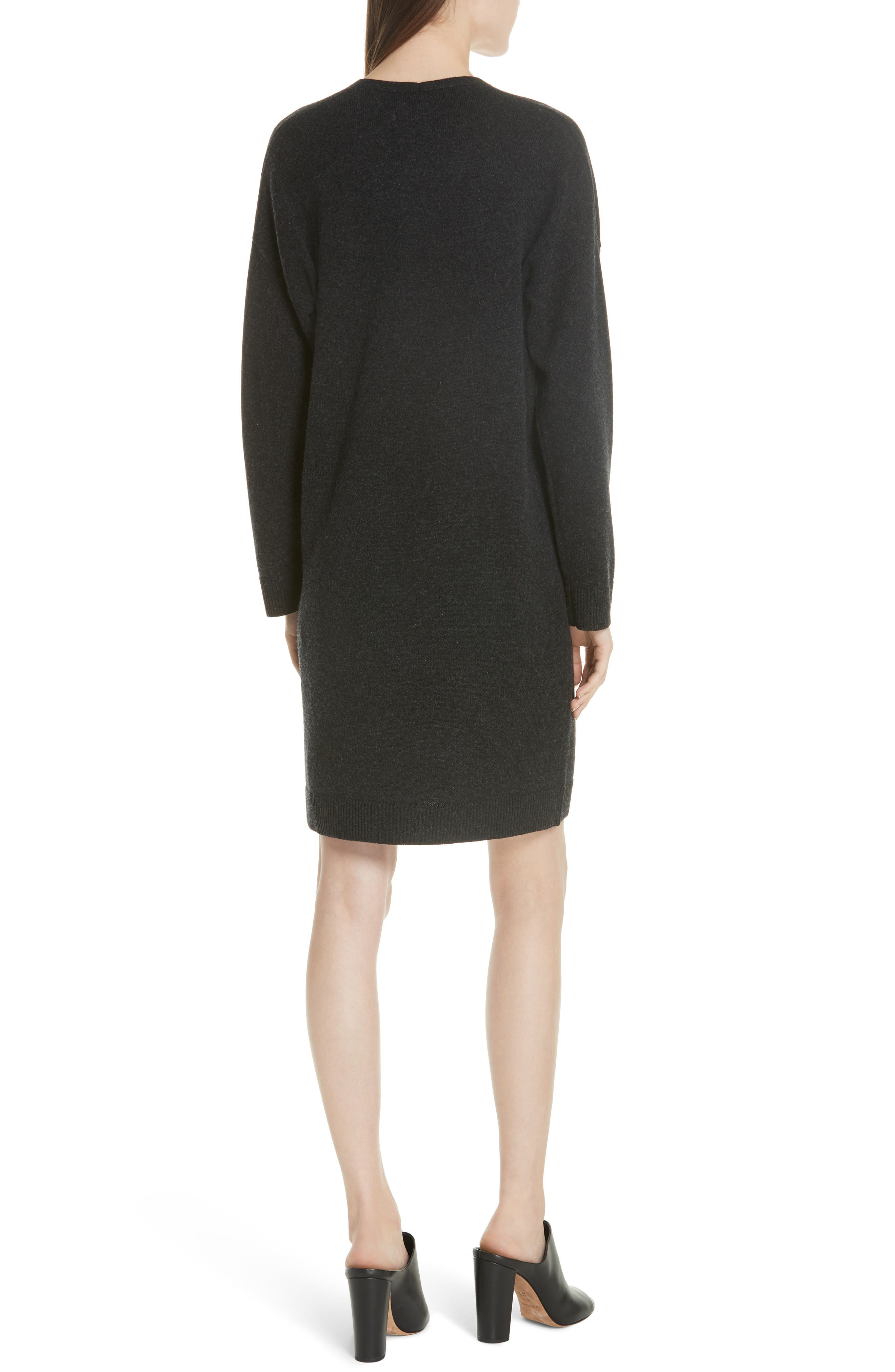 Wool & Cashmere Cocoon Dress,                             Alternate thumbnail 2, color,                             065