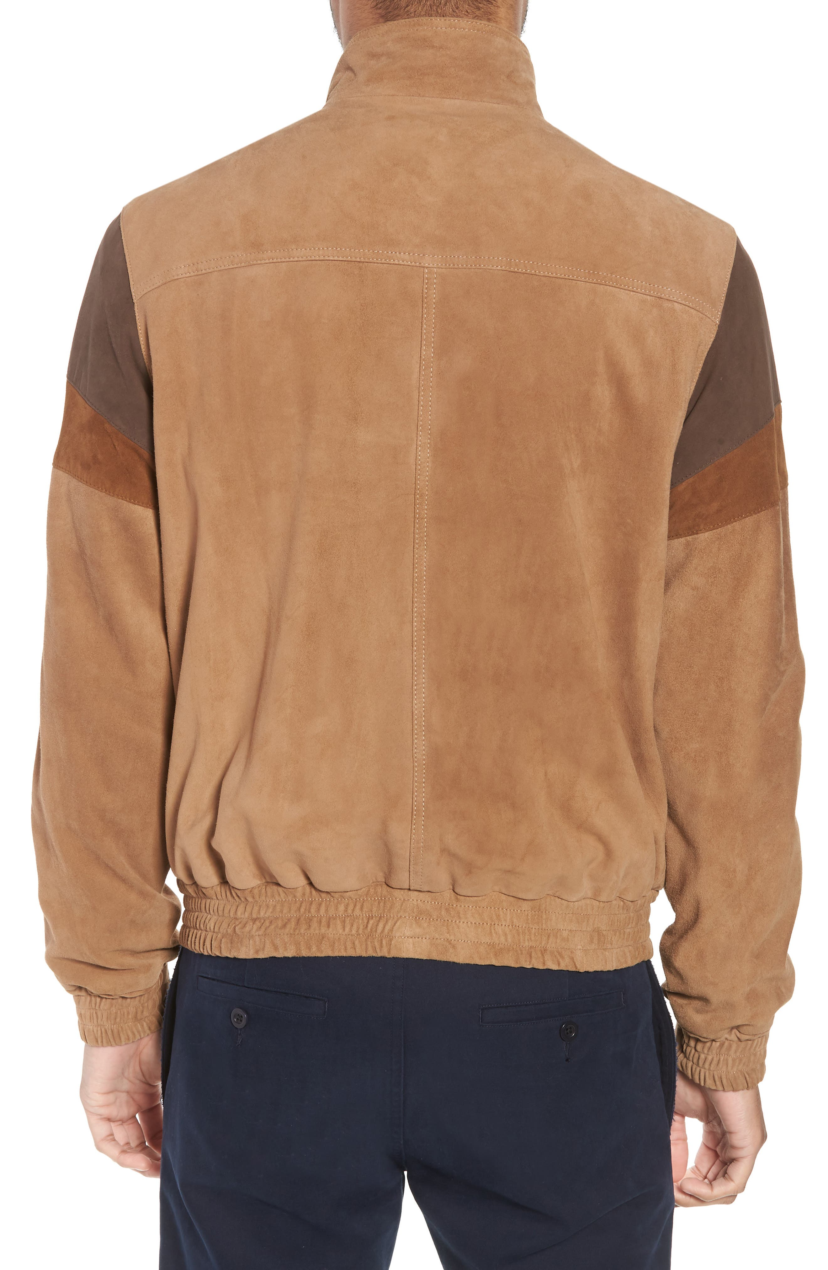 Colorblock Leather Track Jacket,                             Alternate thumbnail 2, color,                             250