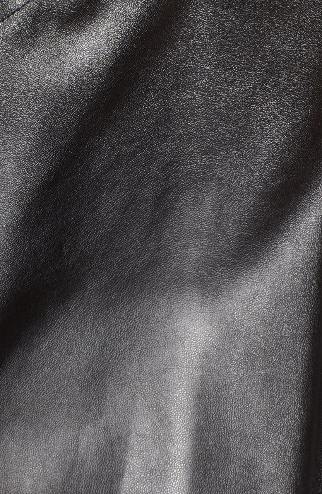 'Peppin' Drape Front Faux Leather Jacket,                             Alternate thumbnail 38, color,