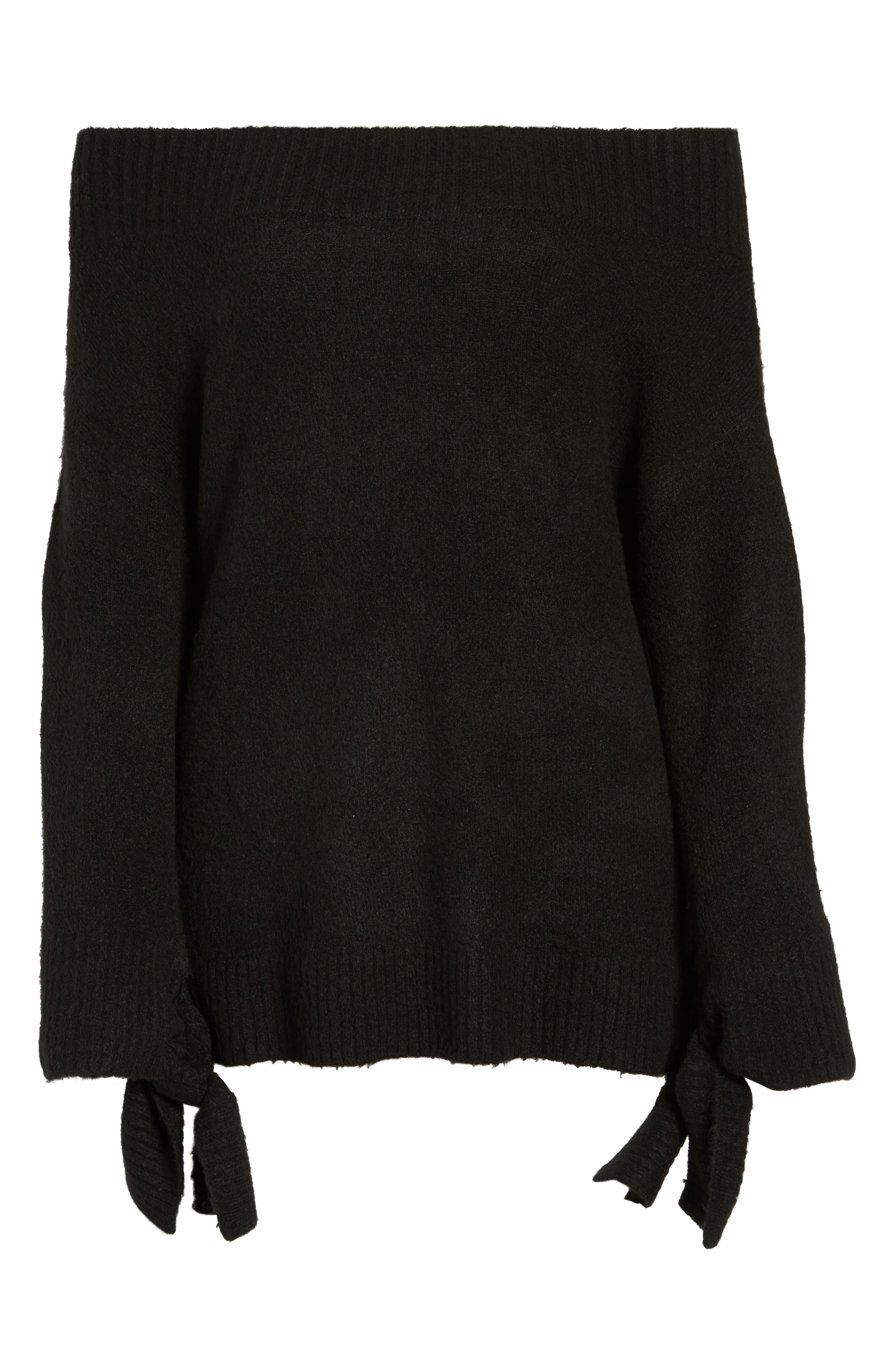 Off the Shoulder Sweater,                             Alternate thumbnail 6, color,                             001