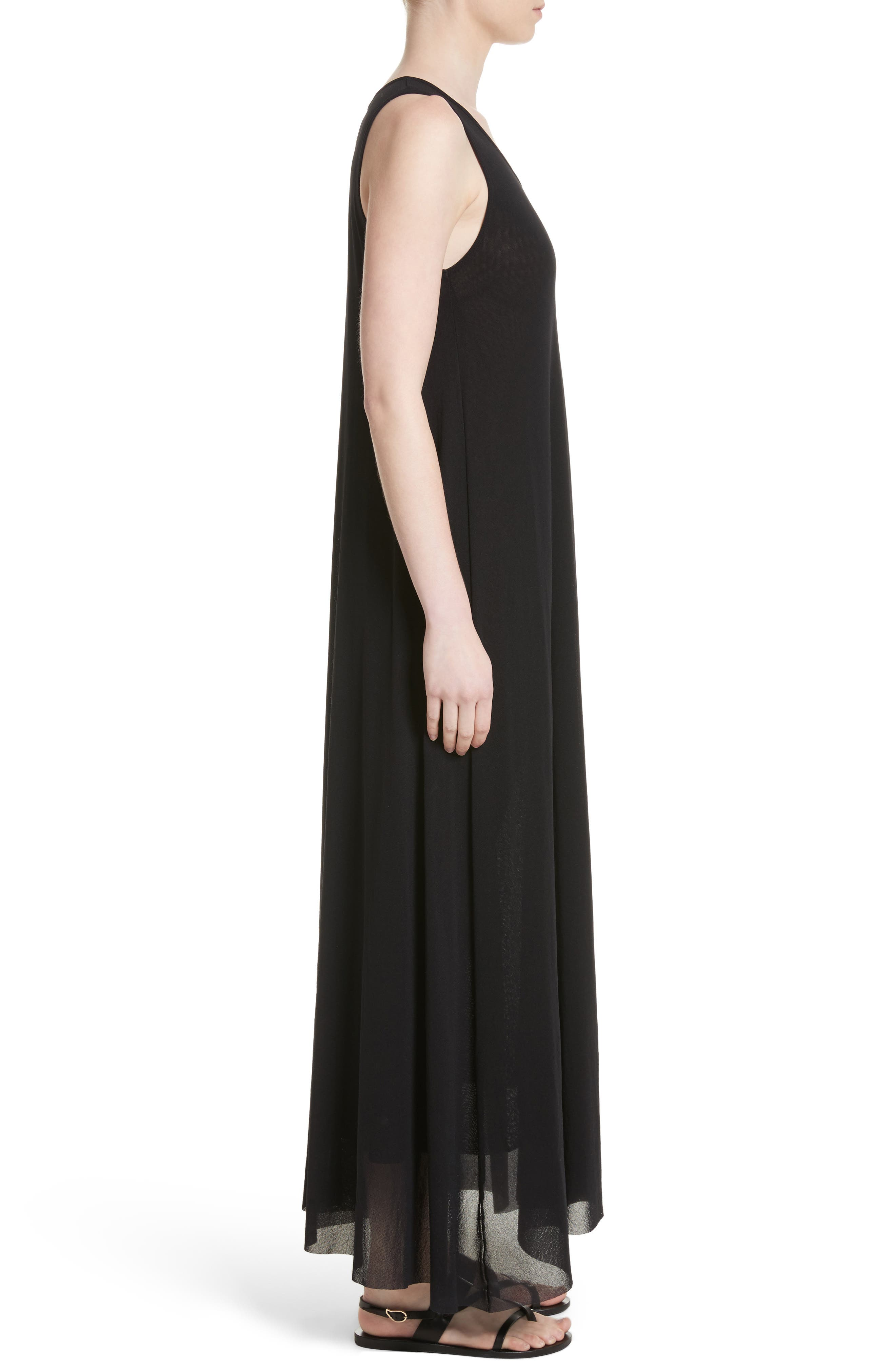 Belted Tulle Maxi Dress,                             Alternate thumbnail 5, color,