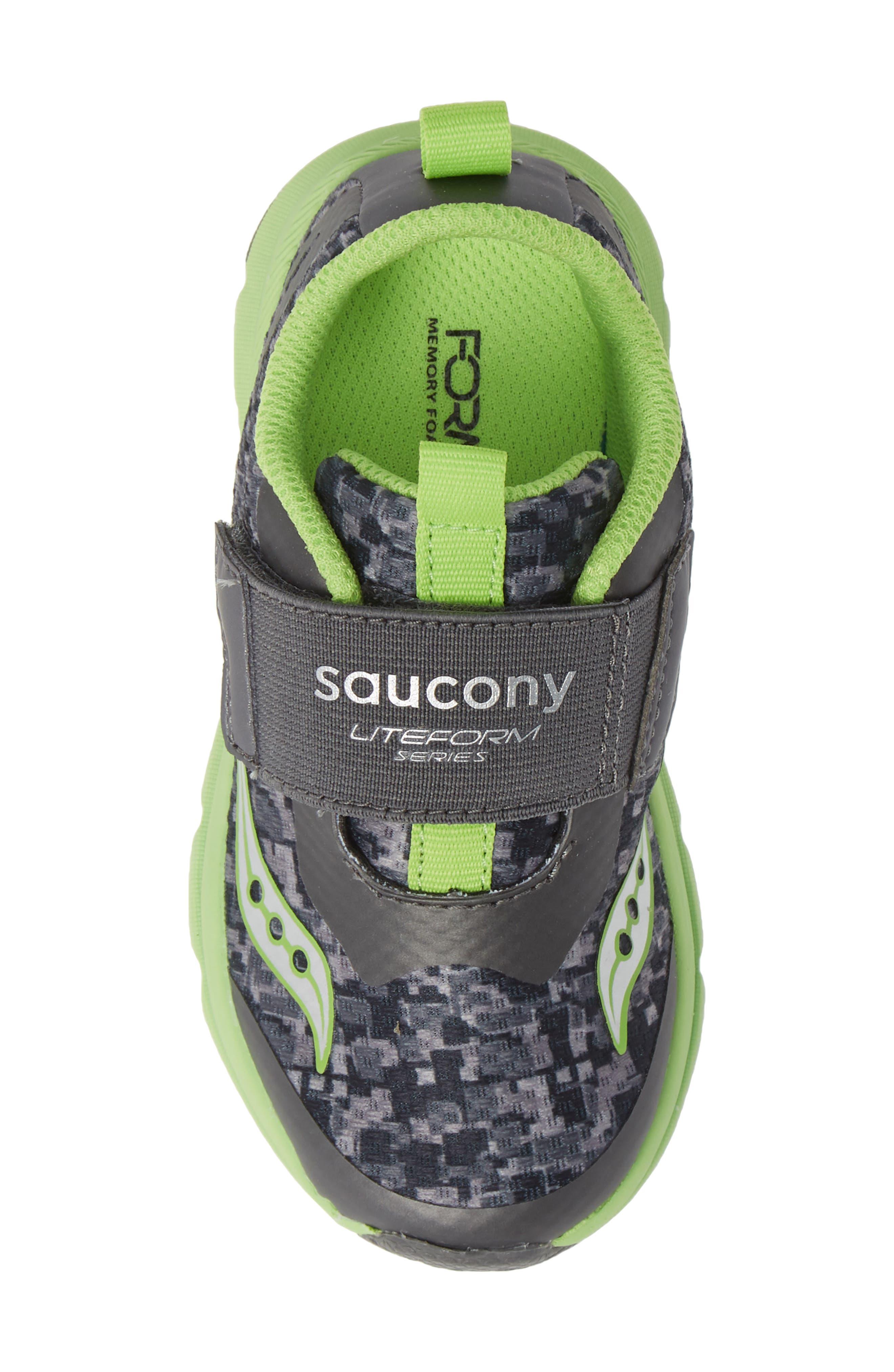 Baby Liteform Sneaker,                             Alternate thumbnail 5, color,                             GREY/ GREEN