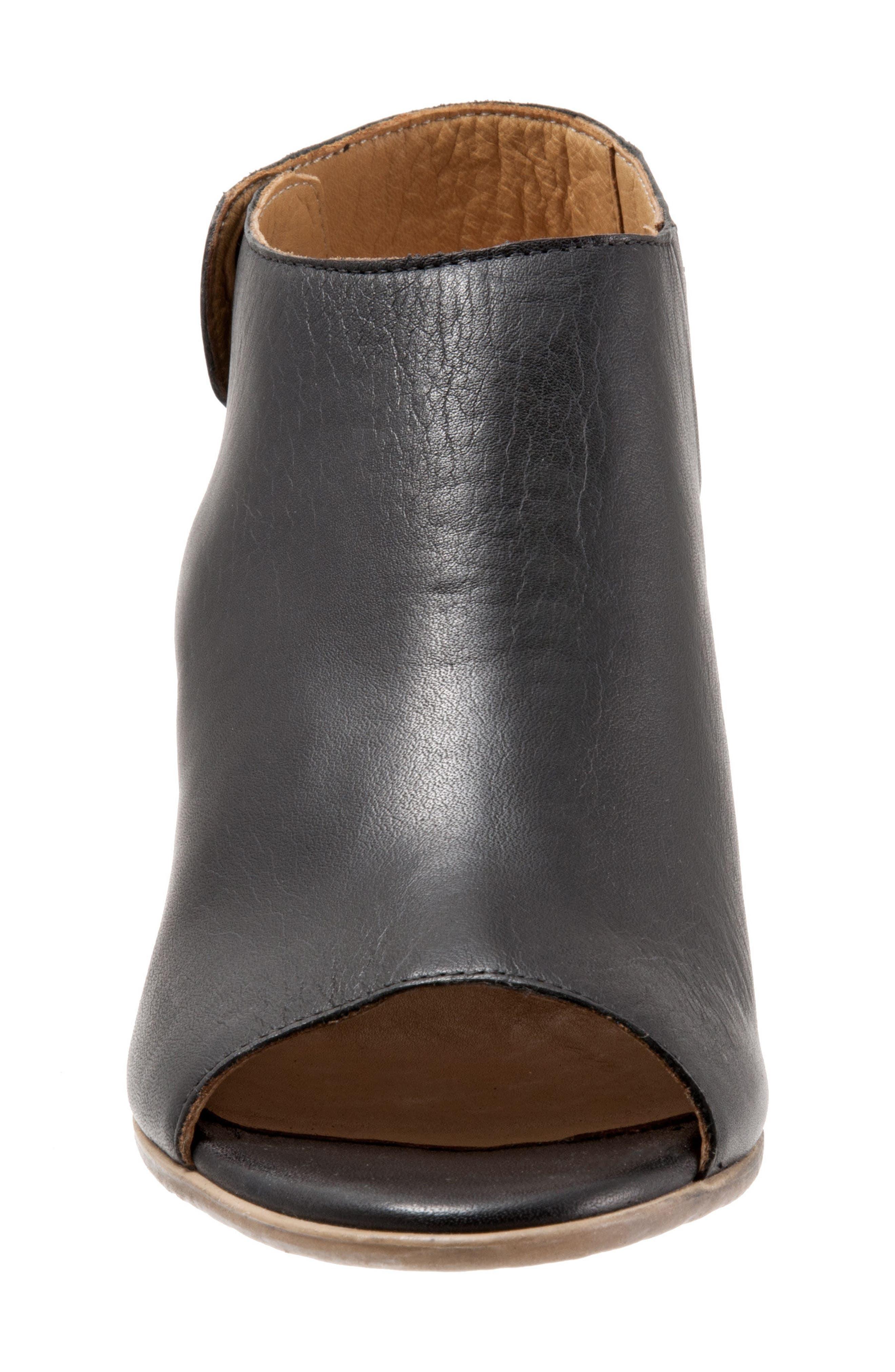 BUENO,                             Umay Slingback Sandal,                             Alternate thumbnail 4, color,                             BLACK LEATHER