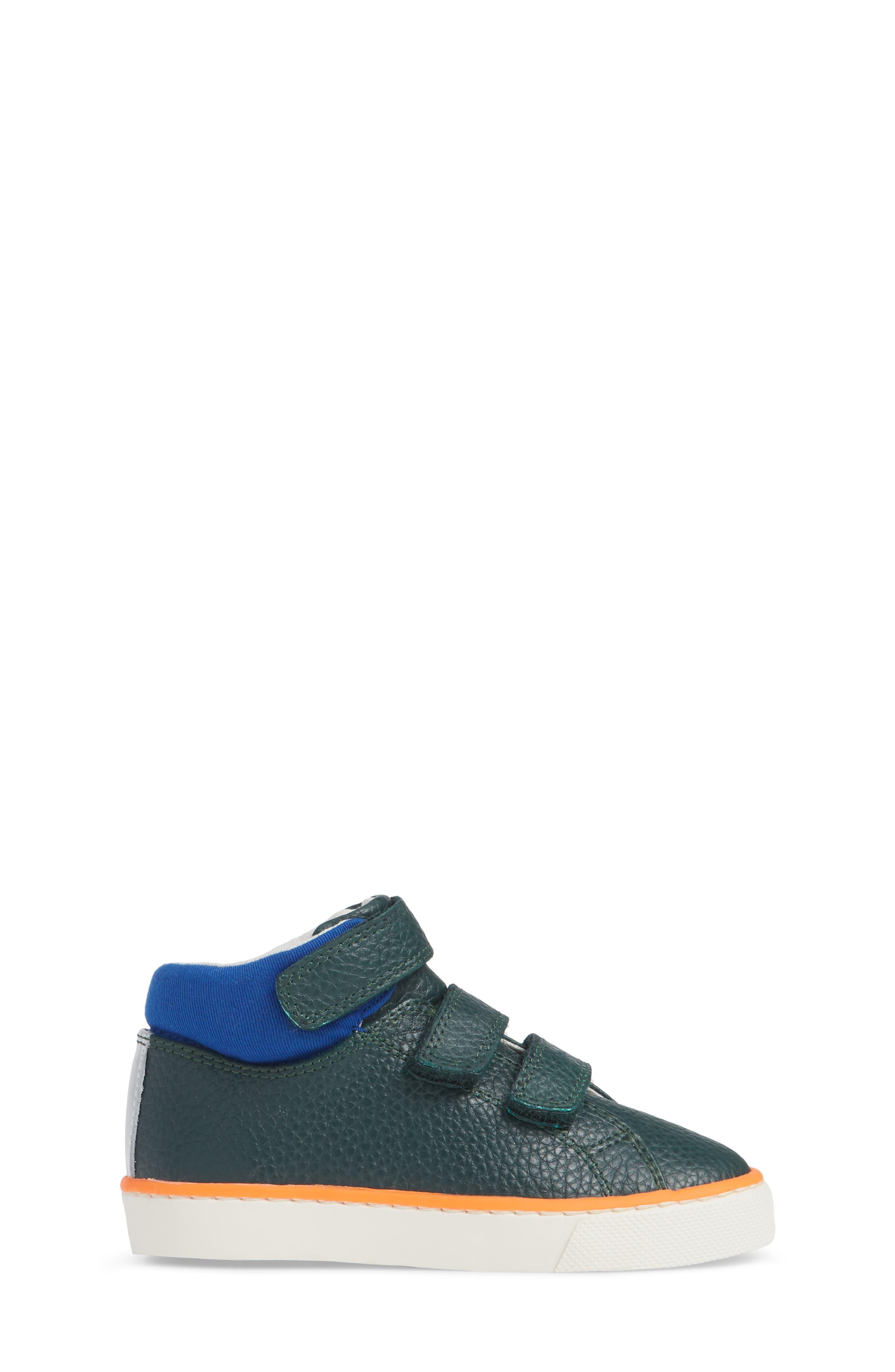 High Top Sneaker,                             Alternate thumbnail 3, color,                             SCOTTS PINE GREEN