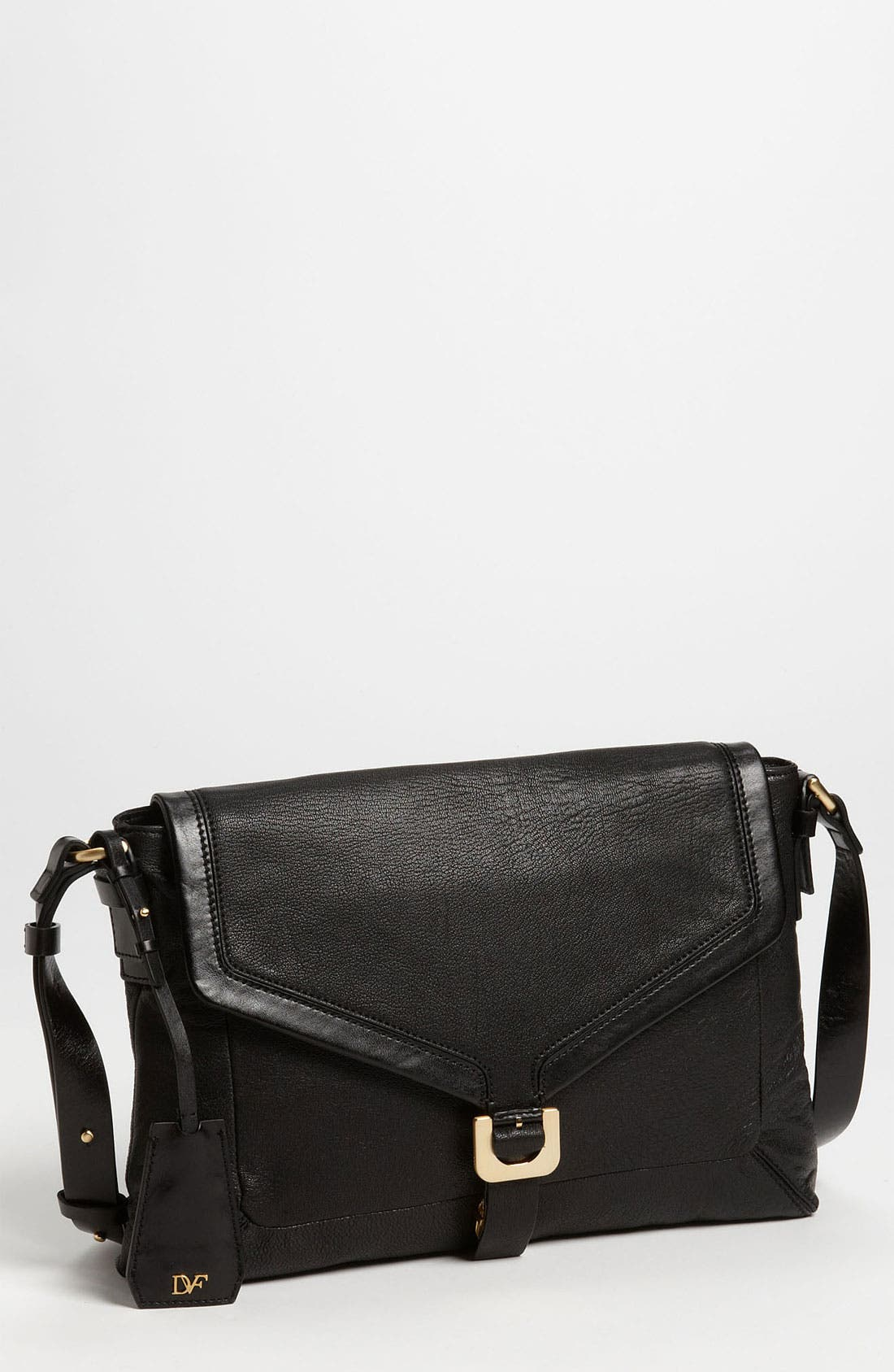 'Drew Connect' Leather Shoulder Bag, Main, color, 001