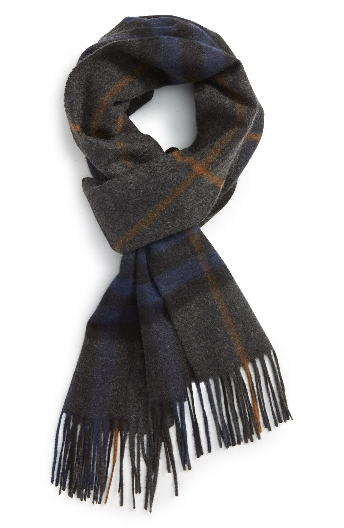 Heritage Check Cashmere Scarf,                             Main thumbnail 3, color,