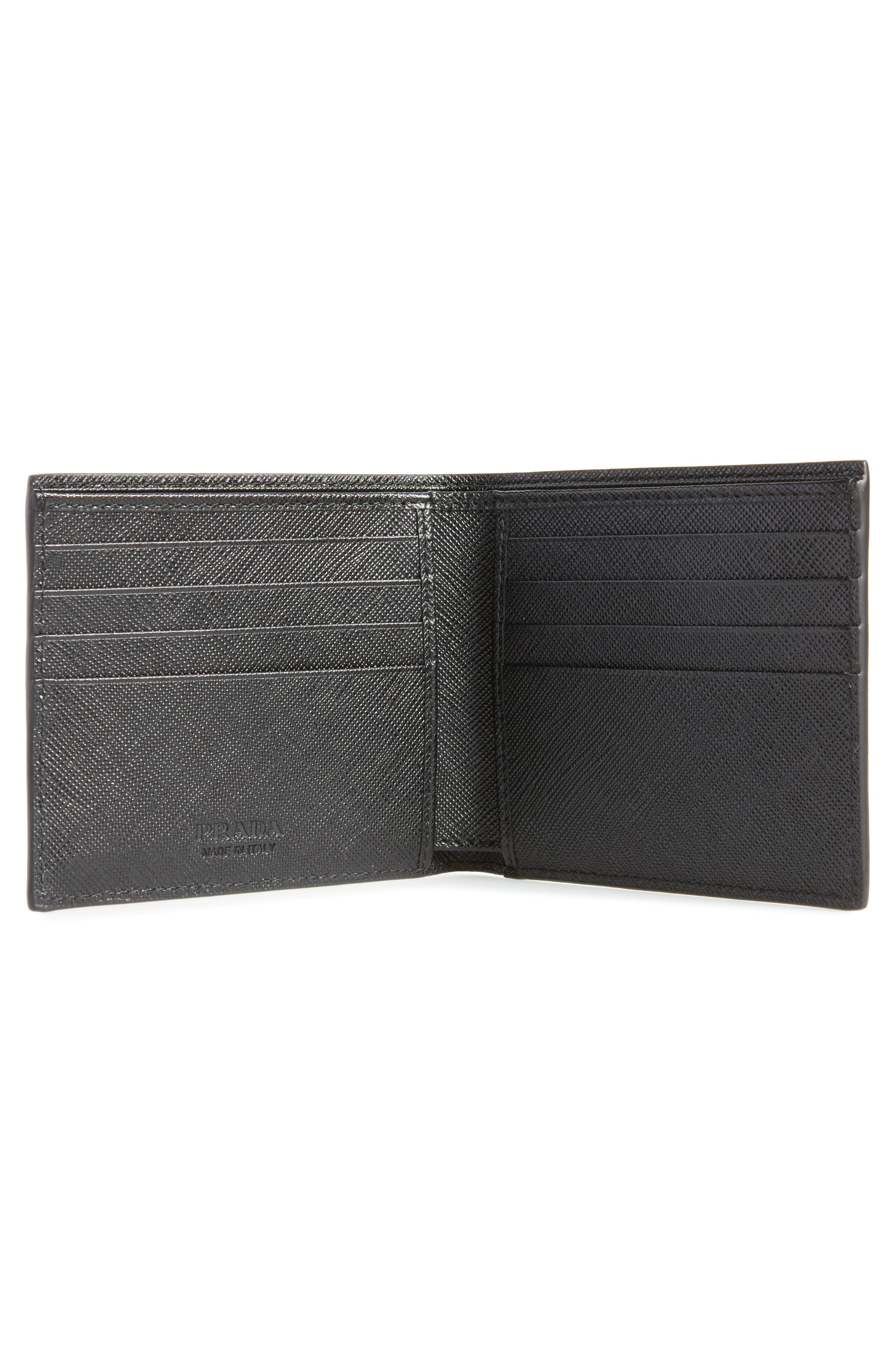 Saffiano Leather Billfold Wallet,                             Alternate thumbnail 2, color,                             002