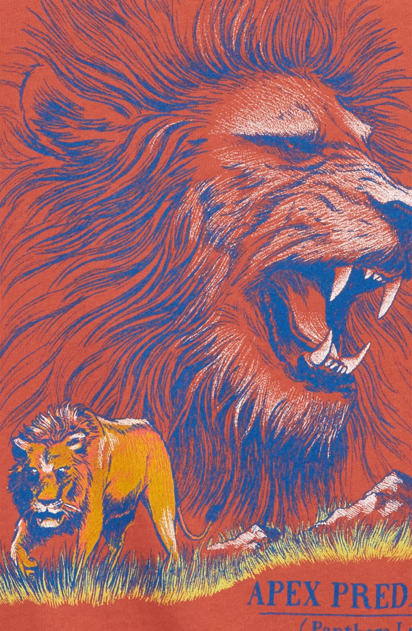 Lion Graphic T-Shirt,                             Alternate thumbnail 2, color,                             800