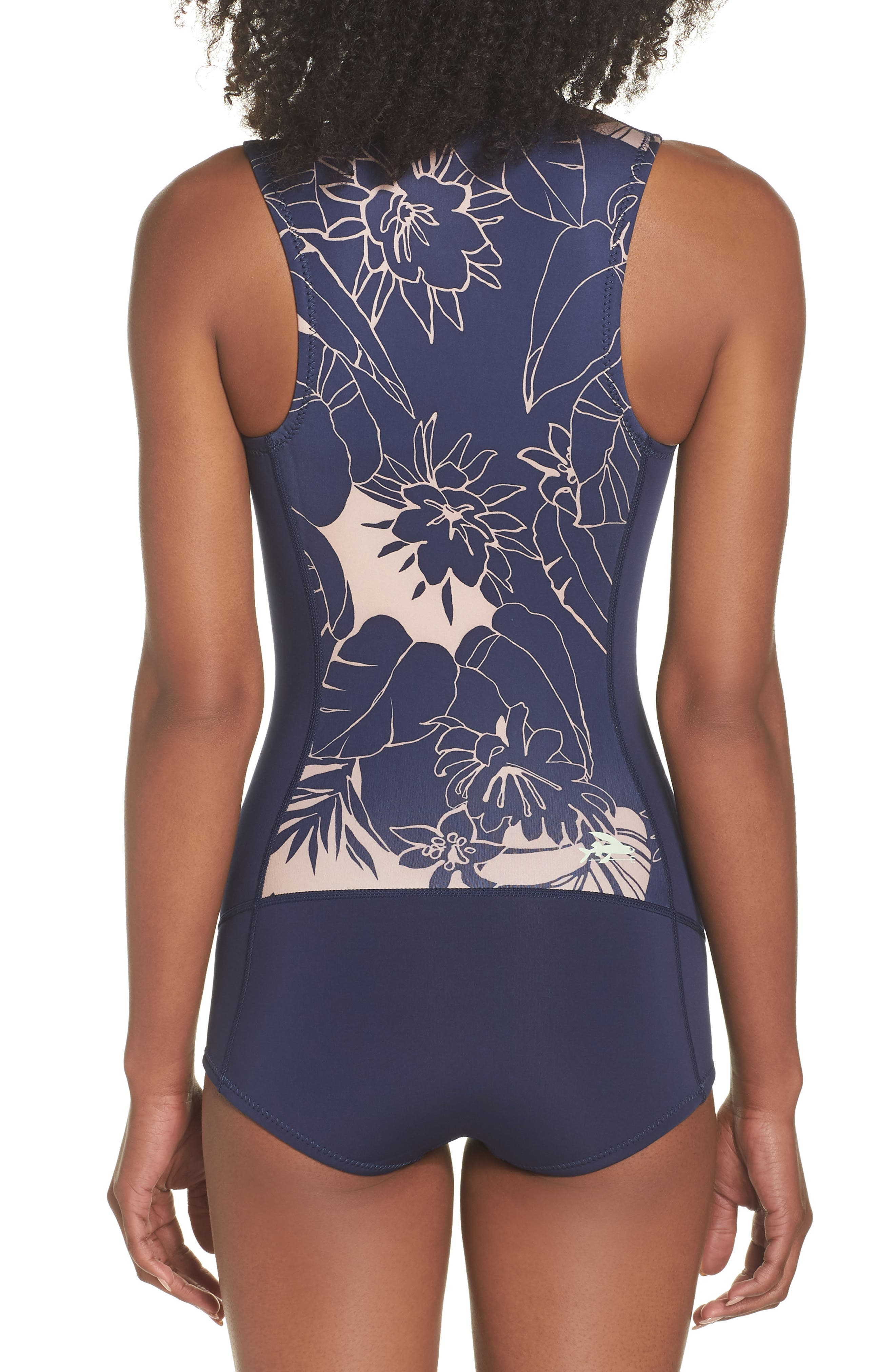 Spring Juanita Zip Front Swimsuit,                             Alternate thumbnail 2, color,                             VALLEY FLORA: ROSE