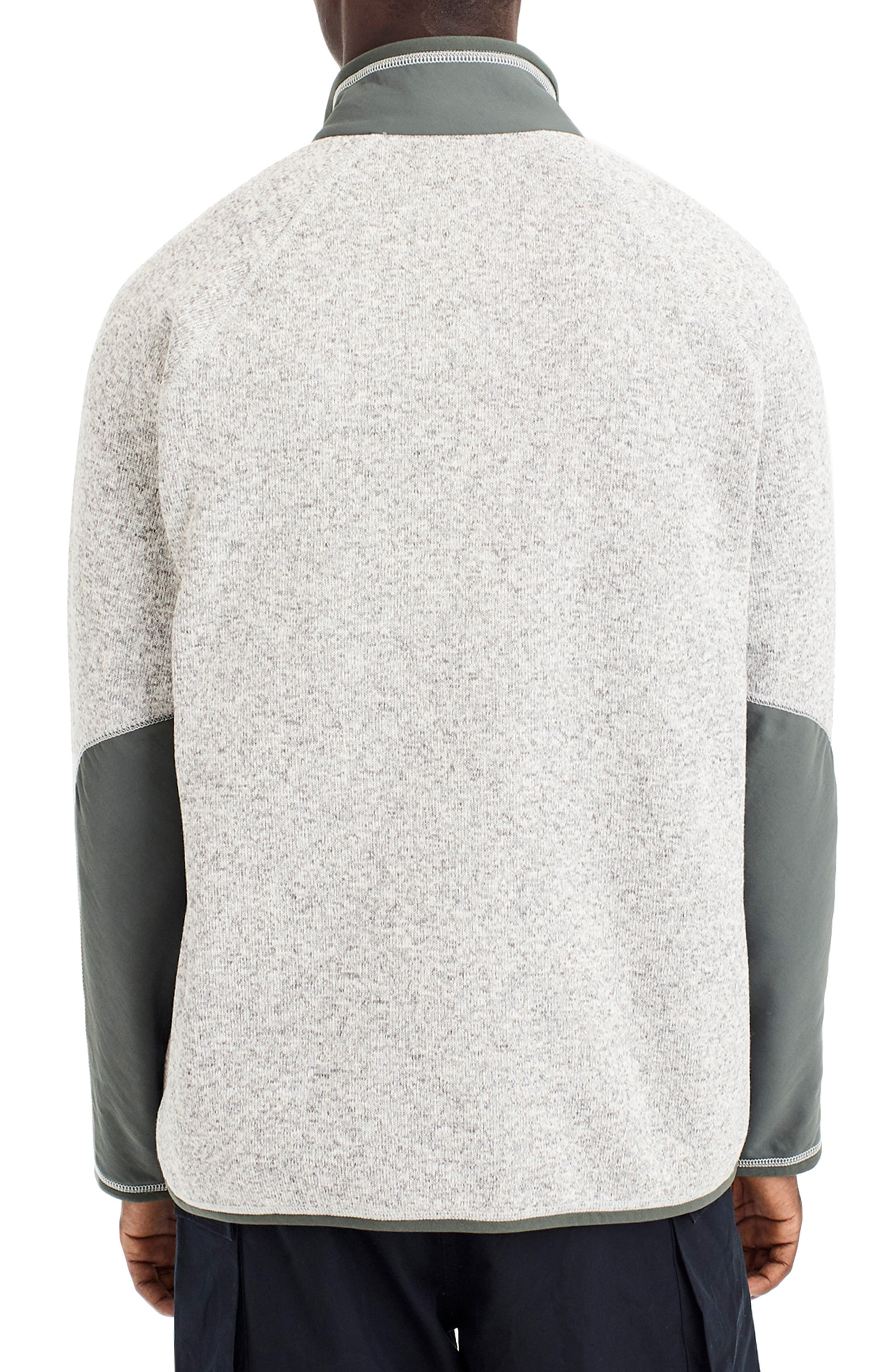 Classic Fit Fleece Sweater Jacket,                             Alternate thumbnail 2, color,                             LIGHT GREY