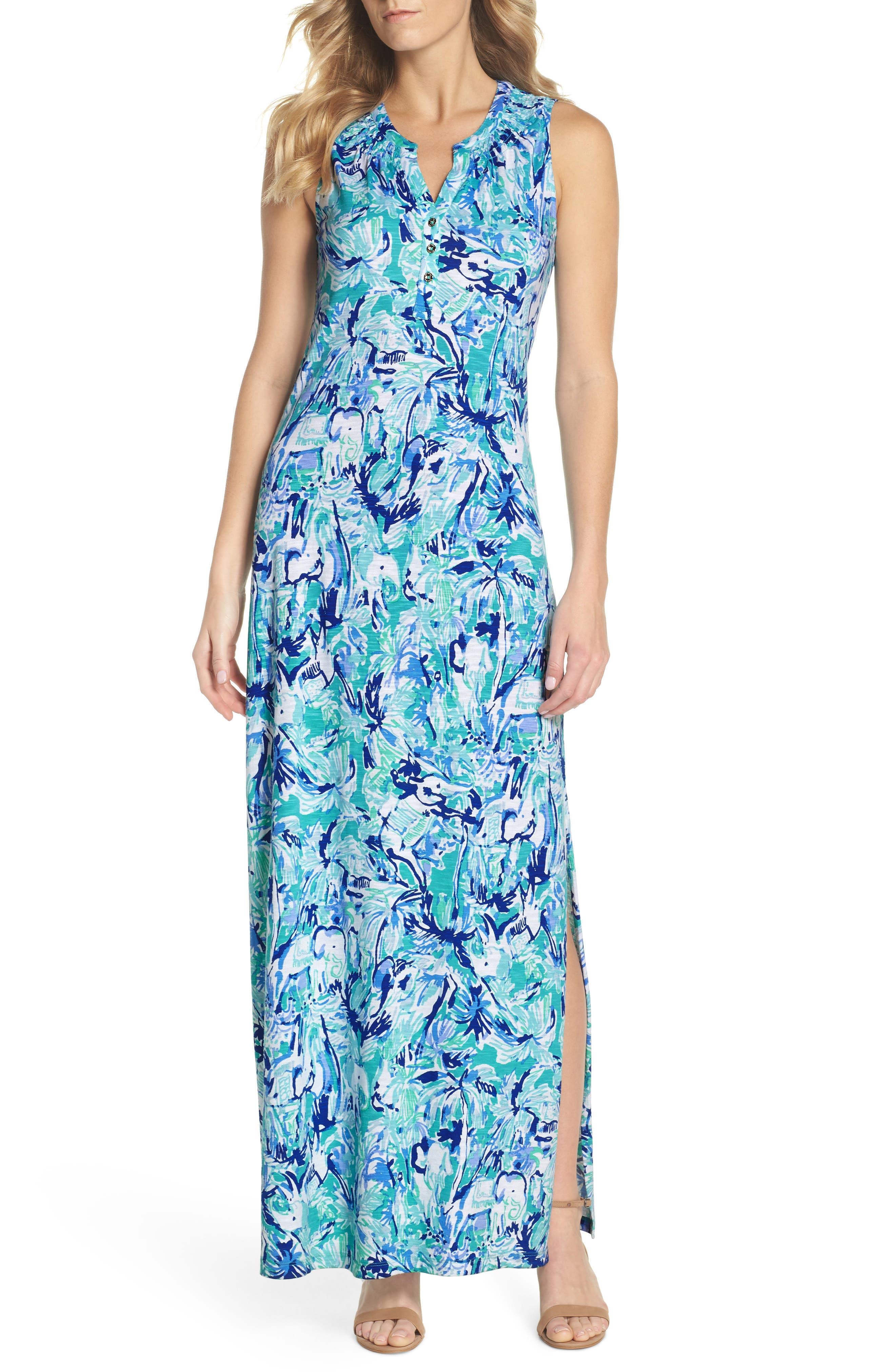 Essie Maxi Dress,                         Main,                         color, 421