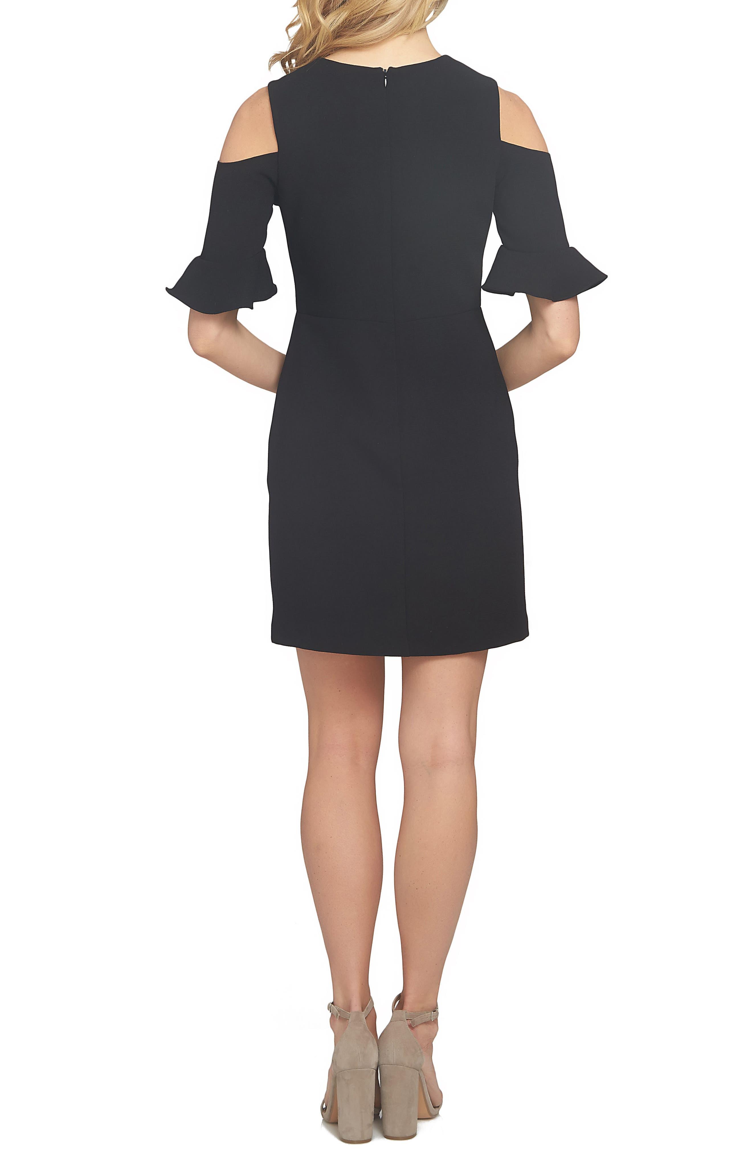Emily Cold Shoulder Sheath Dress,                             Alternate thumbnail 2, color,                             001