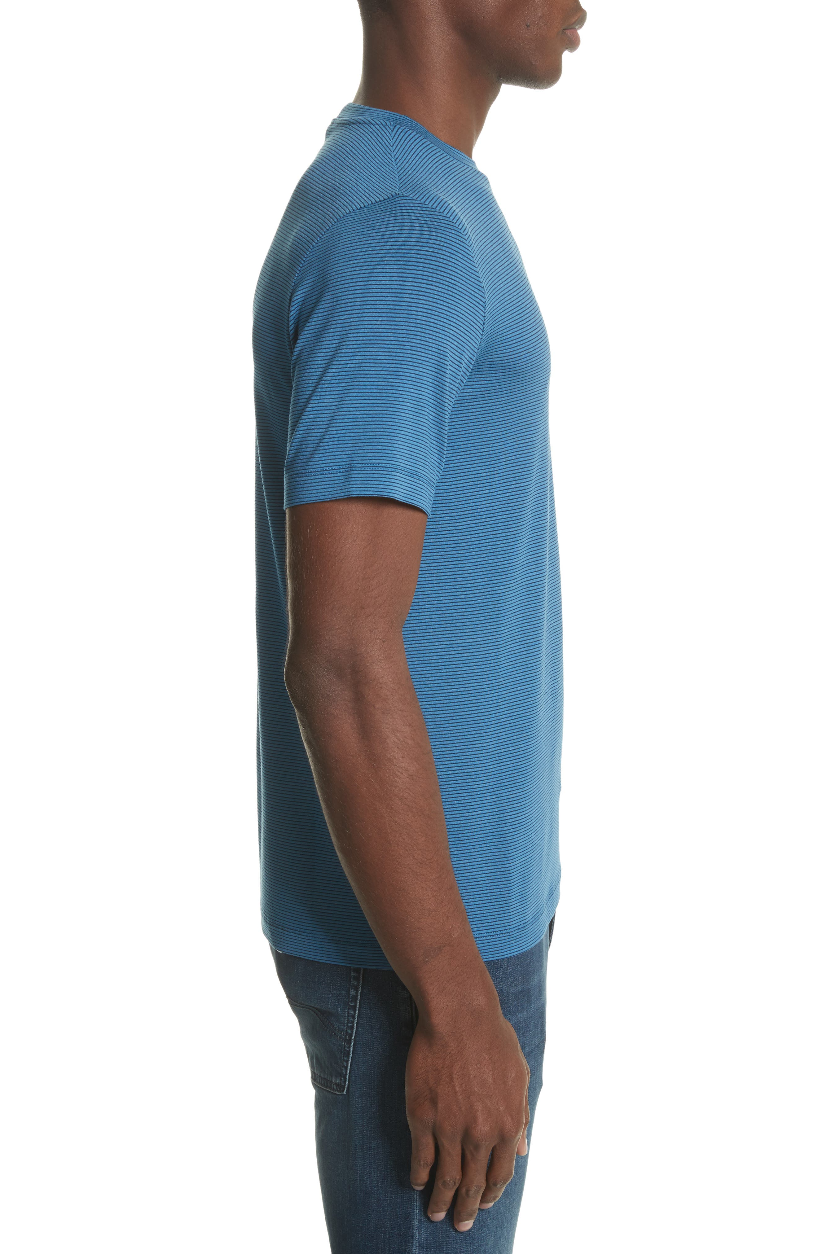 Slim Fit Stripe T-Shirt,                             Alternate thumbnail 3, color,                             400